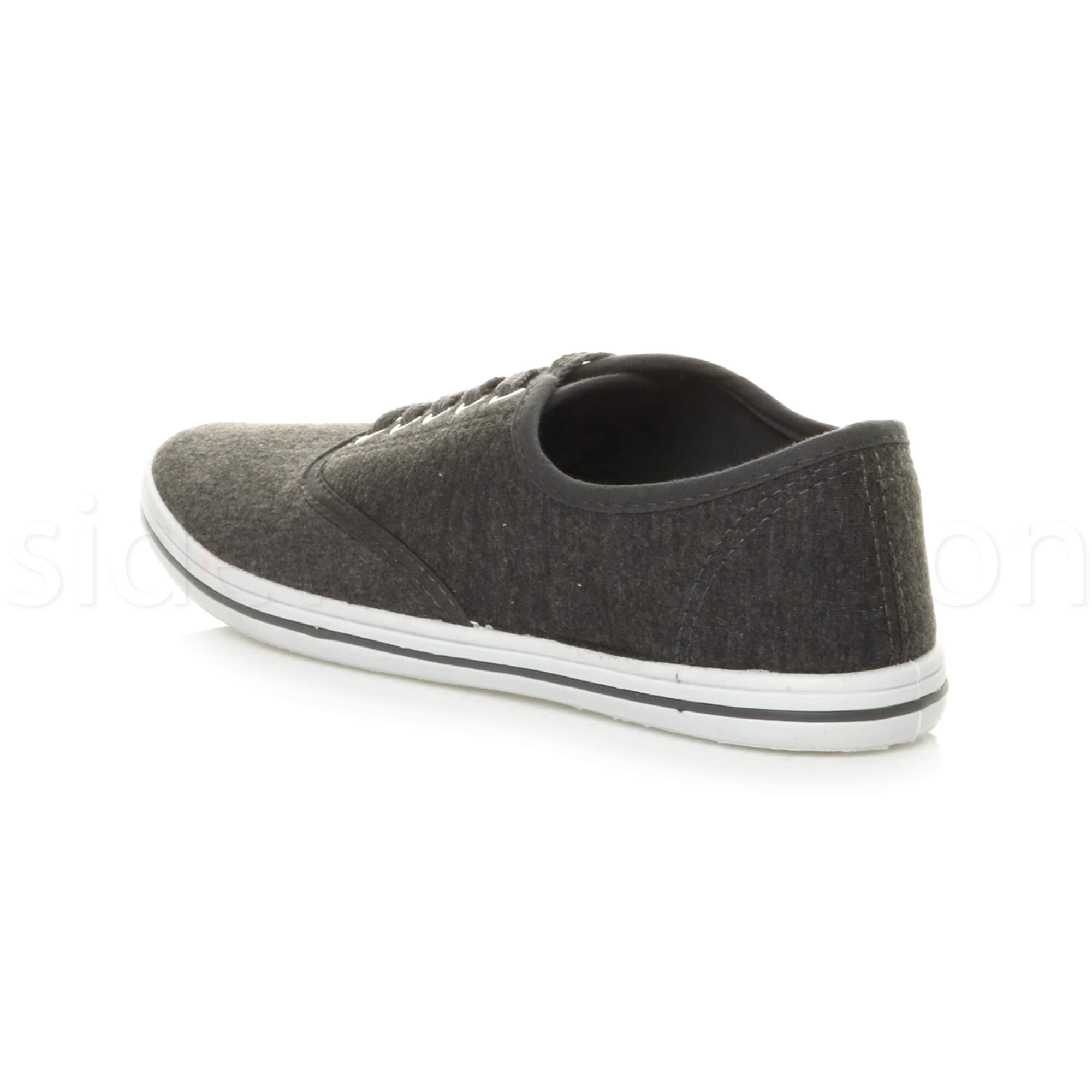 Mens-canvas-trainers-plimsoles-plimsolls-shoes-lace-up-pumps-size thumbnail 12