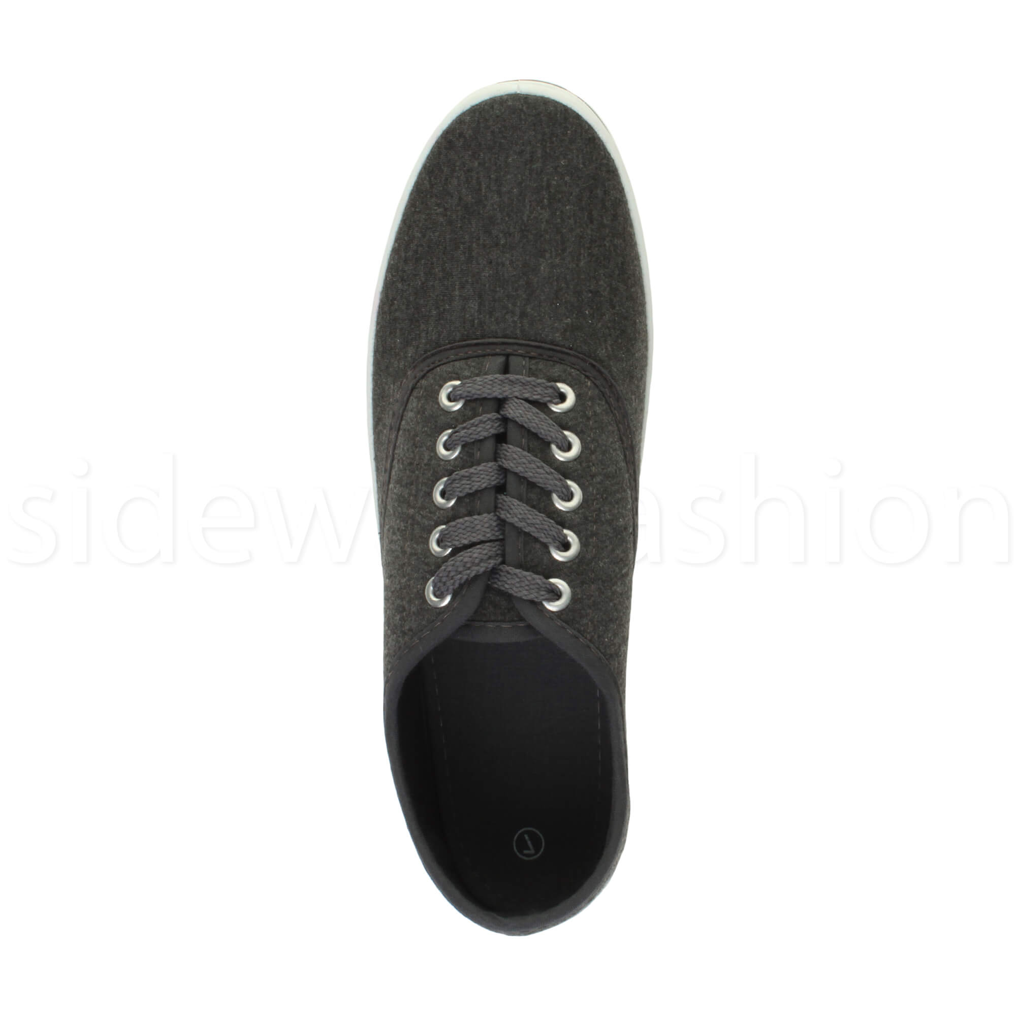 Mens-canvas-trainers-plimsoles-plimsolls-shoes-lace-up-pumps-size thumbnail 13