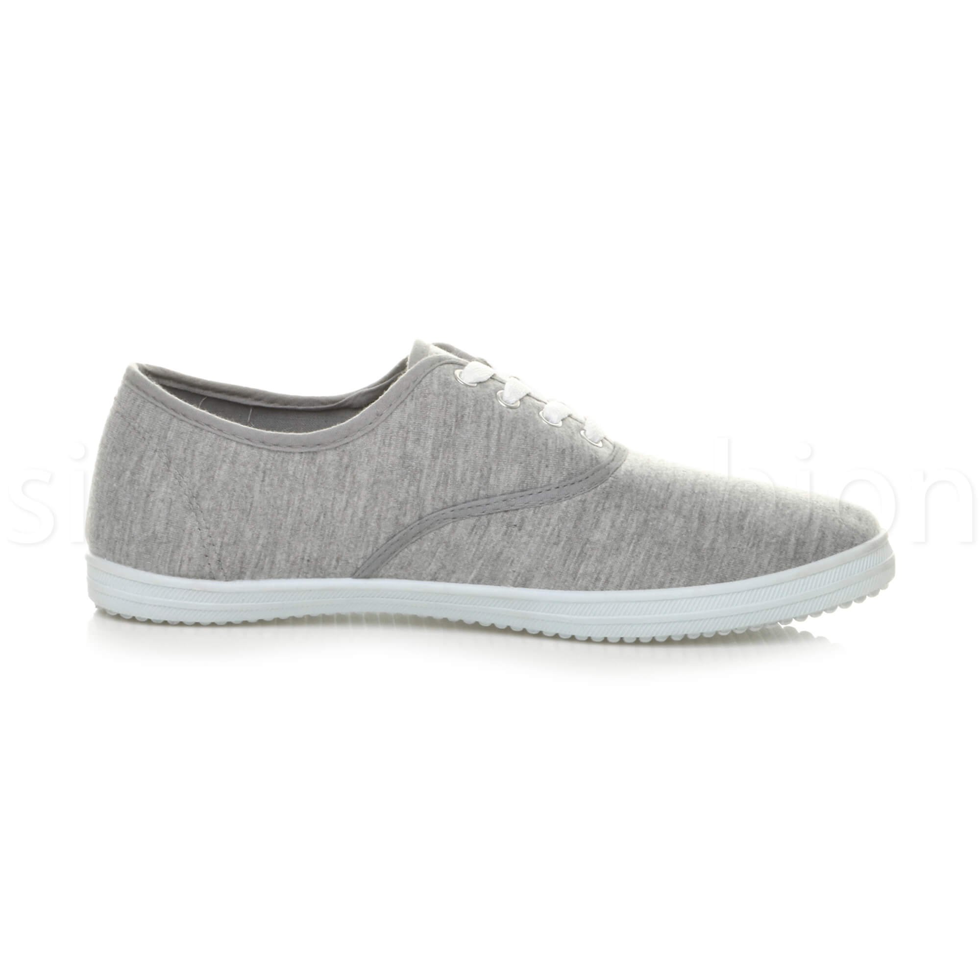 Mens-canvas-trainers-plimsoles-plimsolls-shoes-lace-up-pumps-size thumbnail 18