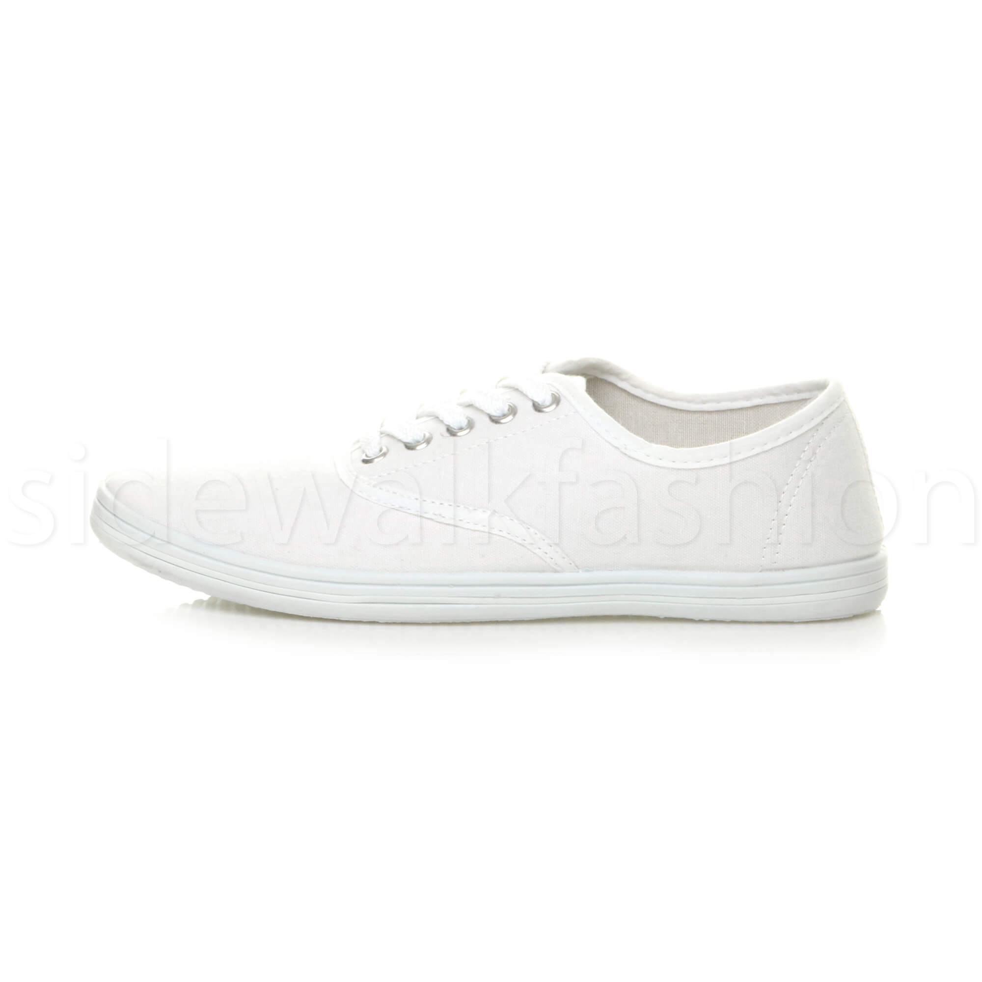 Mens-canvas-trainers-plimsoles-plimsolls-shoes-lace-up-pumps-size thumbnail 24