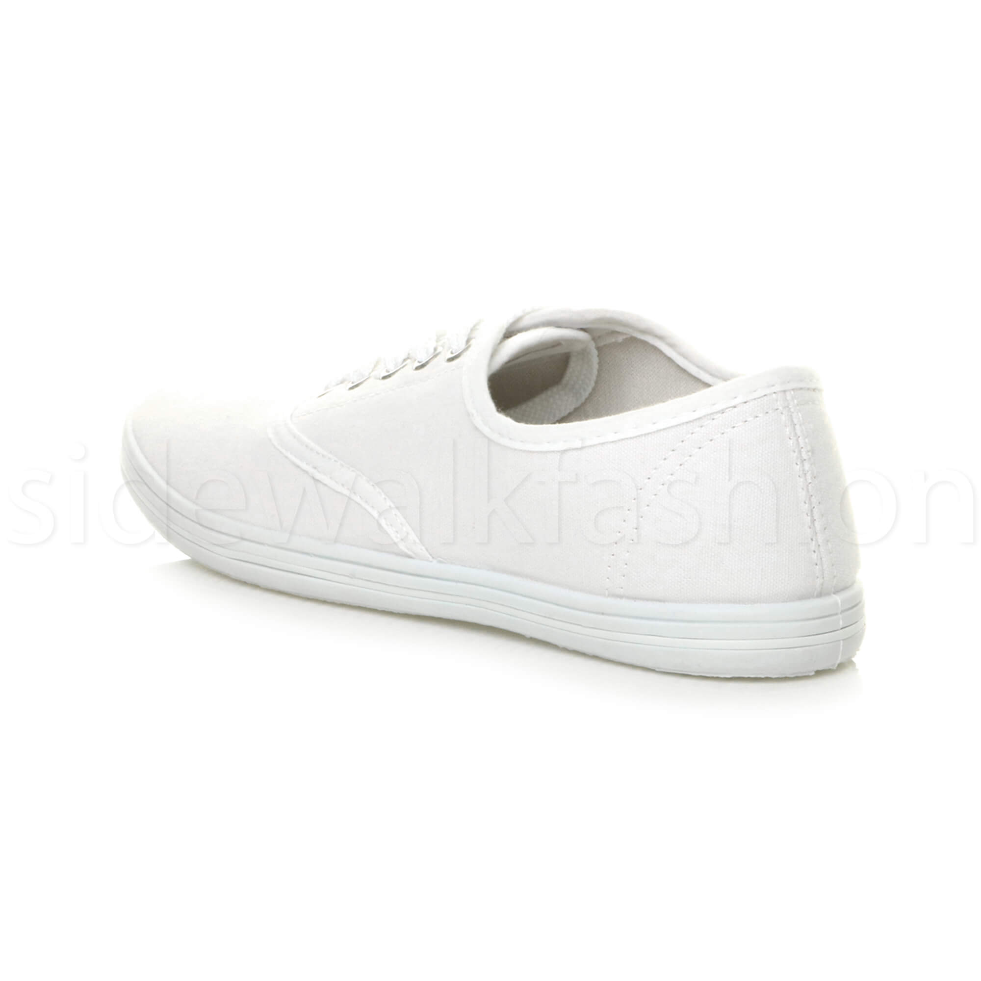 Mens-canvas-trainers-plimsoles-plimsolls-shoes-lace-up-pumps-size thumbnail 26