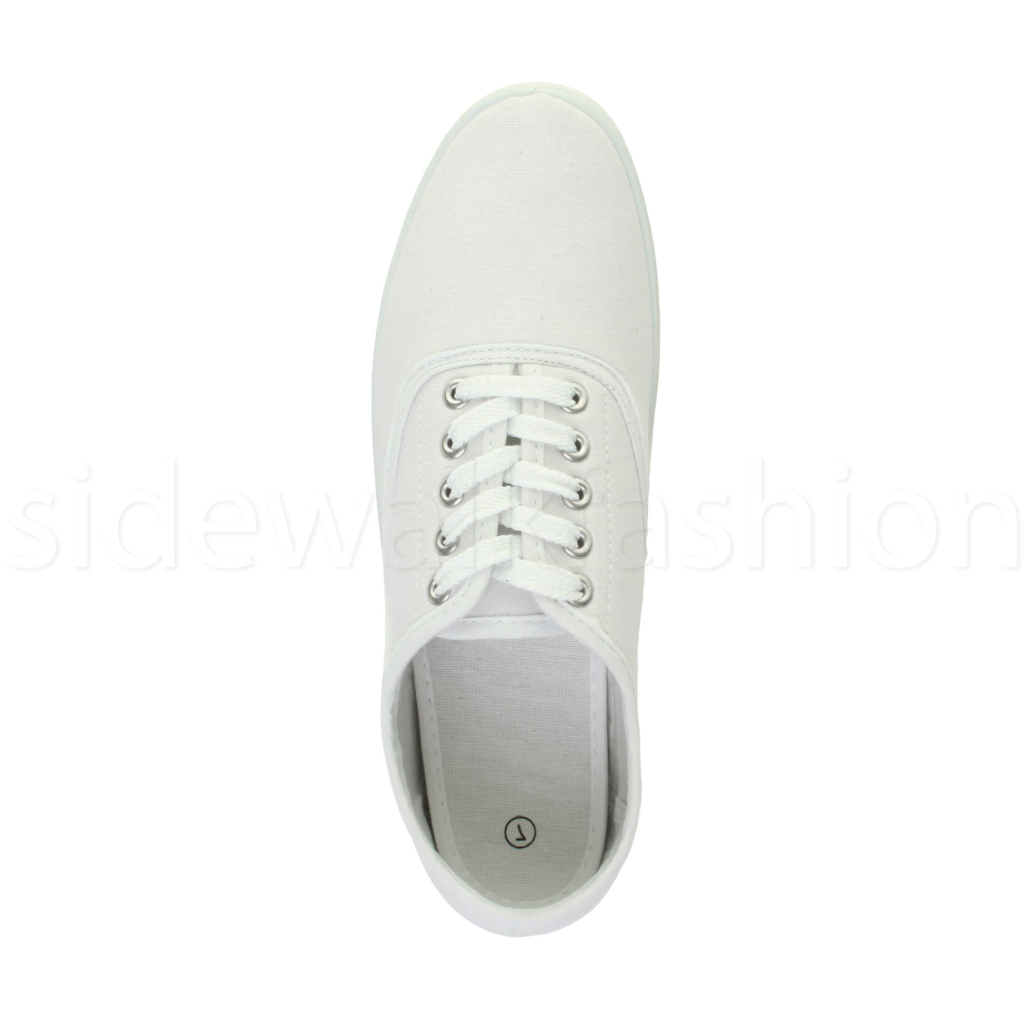 Mens-canvas-trainers-plimsoles-plimsolls-shoes-lace-up-pumps-size thumbnail 27