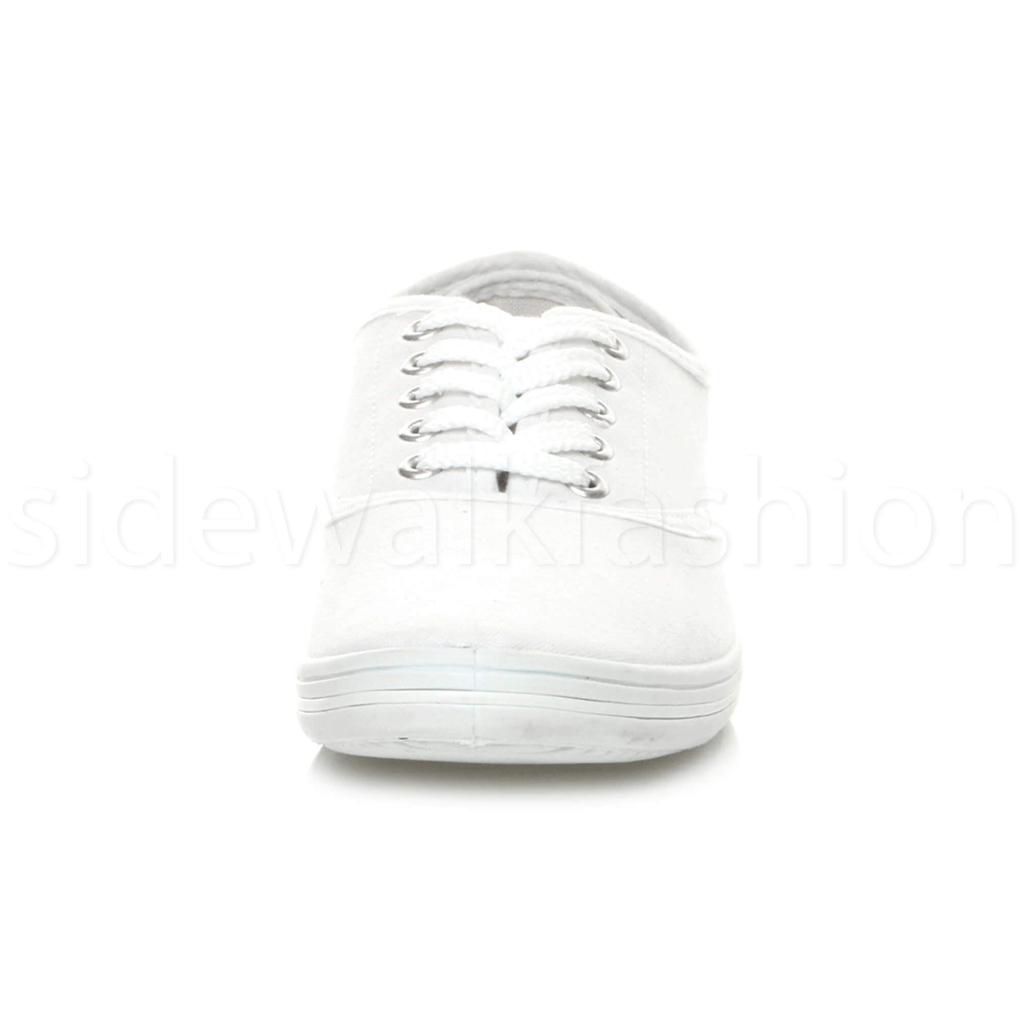 Mens-canvas-trainers-plimsoles-plimsolls-shoes-lace-up-pumps-size thumbnail 28