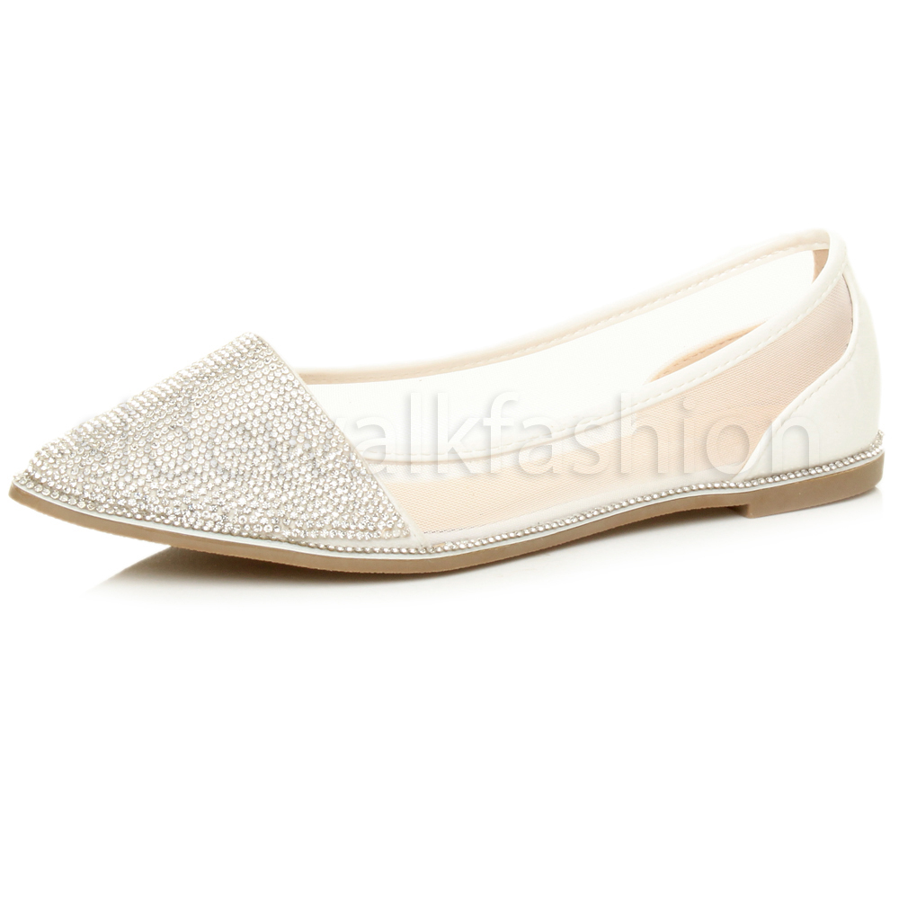 Ladies Pointed Toe Flat Shoes
