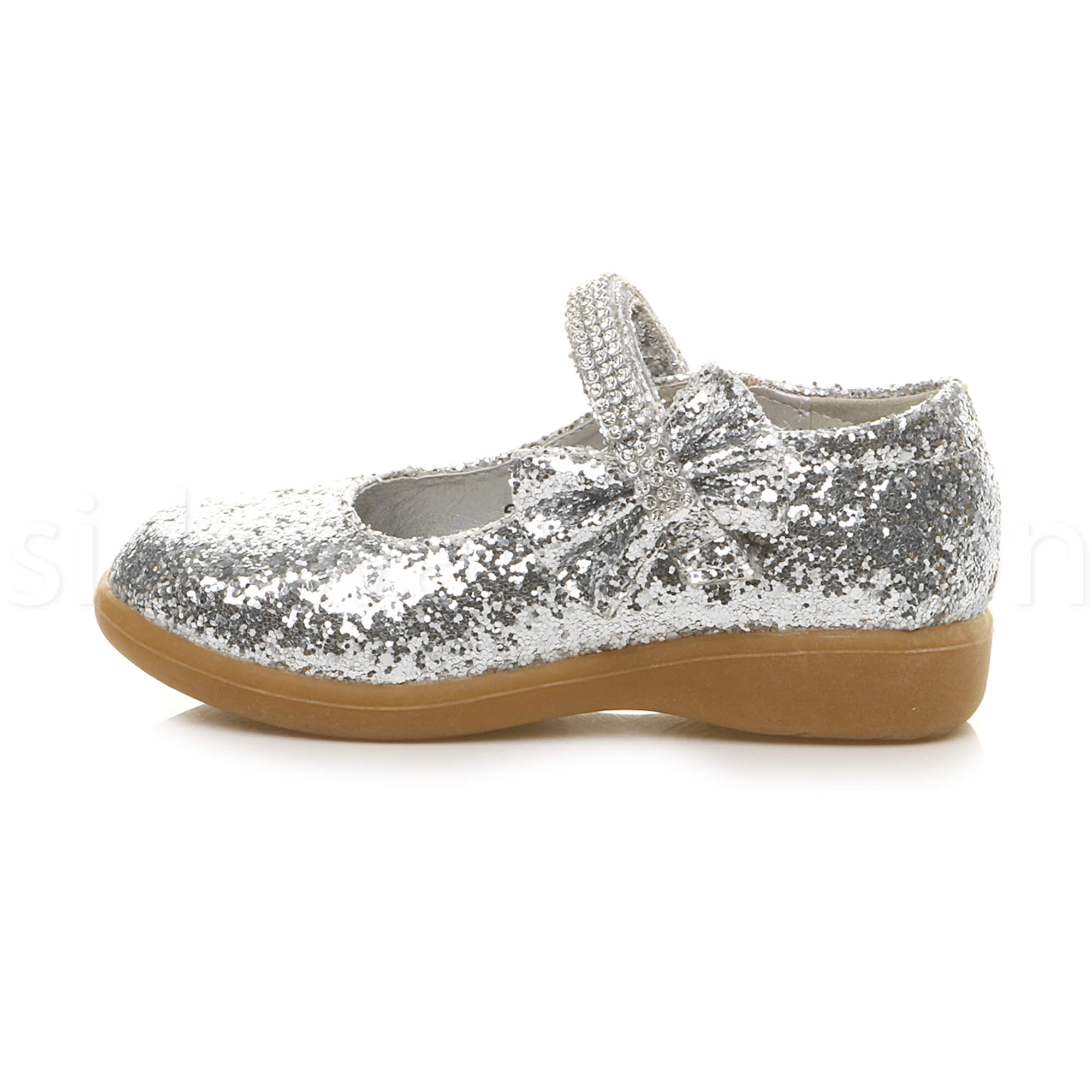 1dec2dd5bbb5 Girls Silver Sparkly Party Shoes (size 11 Kids) for sale online