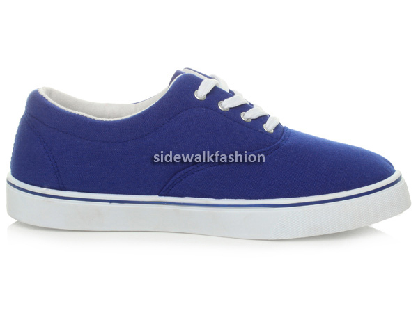 Mens-canvas-casual-flat-trainers-plimsoles-plimsolls-shoes-lace-up-pumps-size