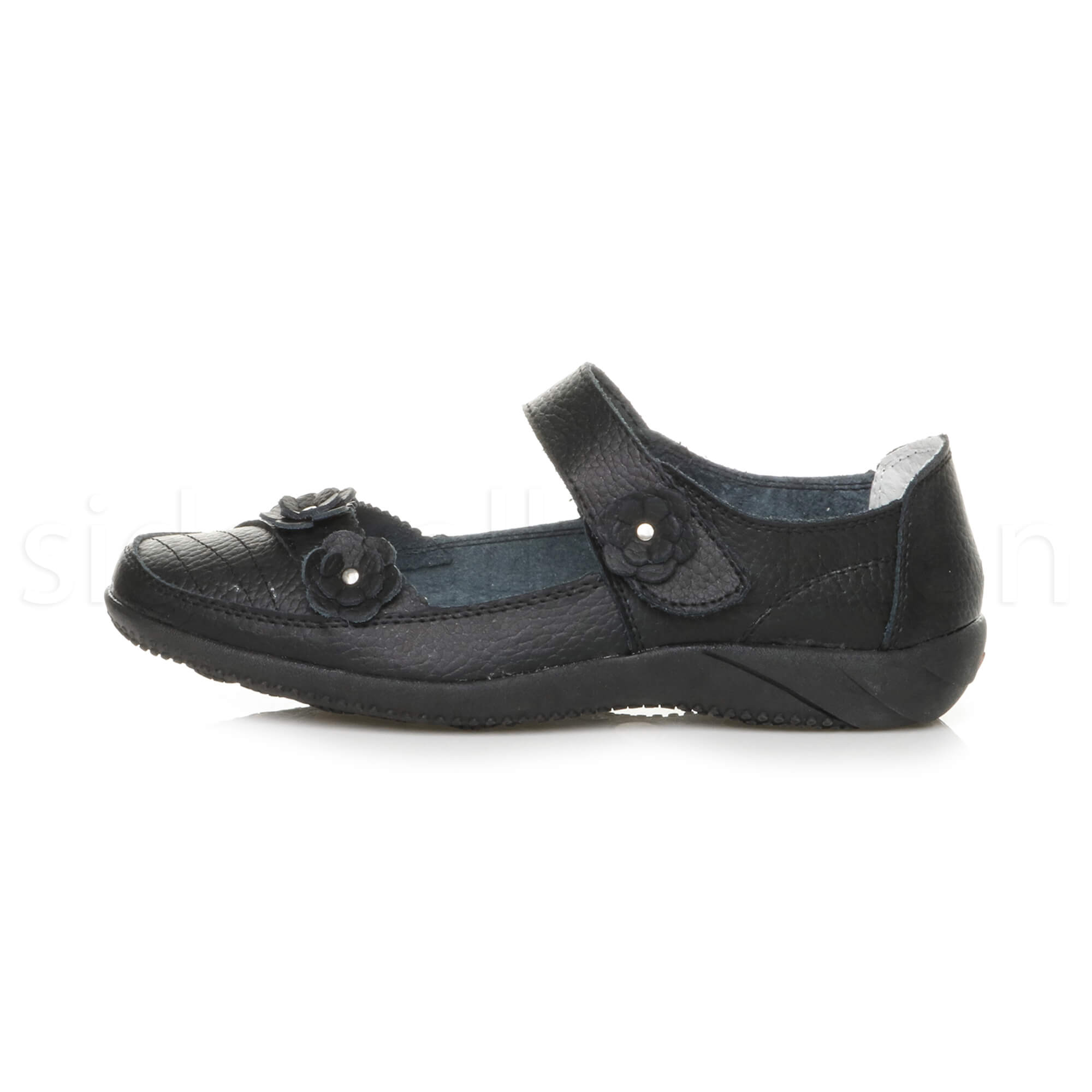 Womens-ladies-leather-comfort-walking-casual-sandals-mary-jane-strap-shoes-size thumbnail 8
