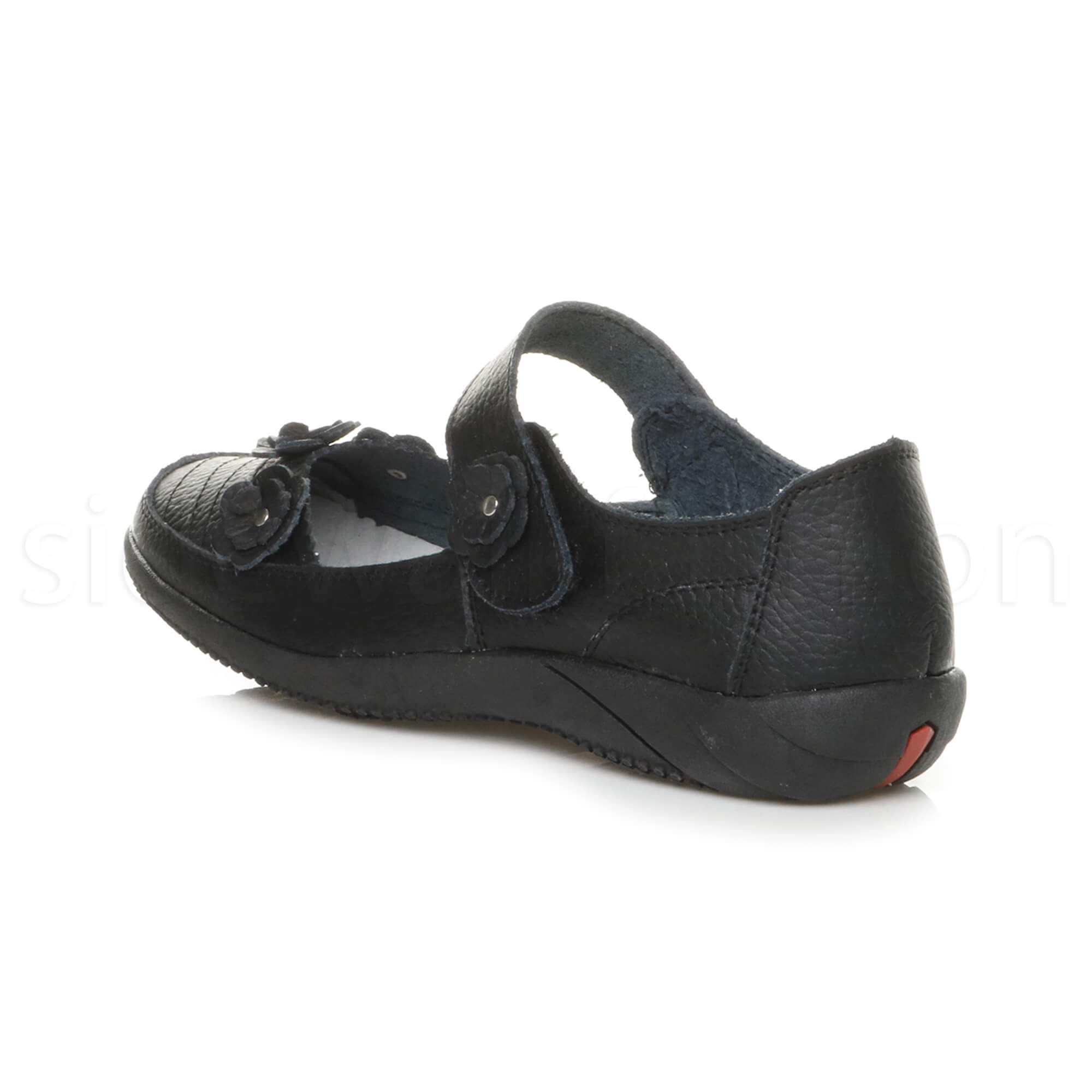 Womens-ladies-leather-comfort-walking-casual-sandals-mary-jane-strap-shoes-size thumbnail 10