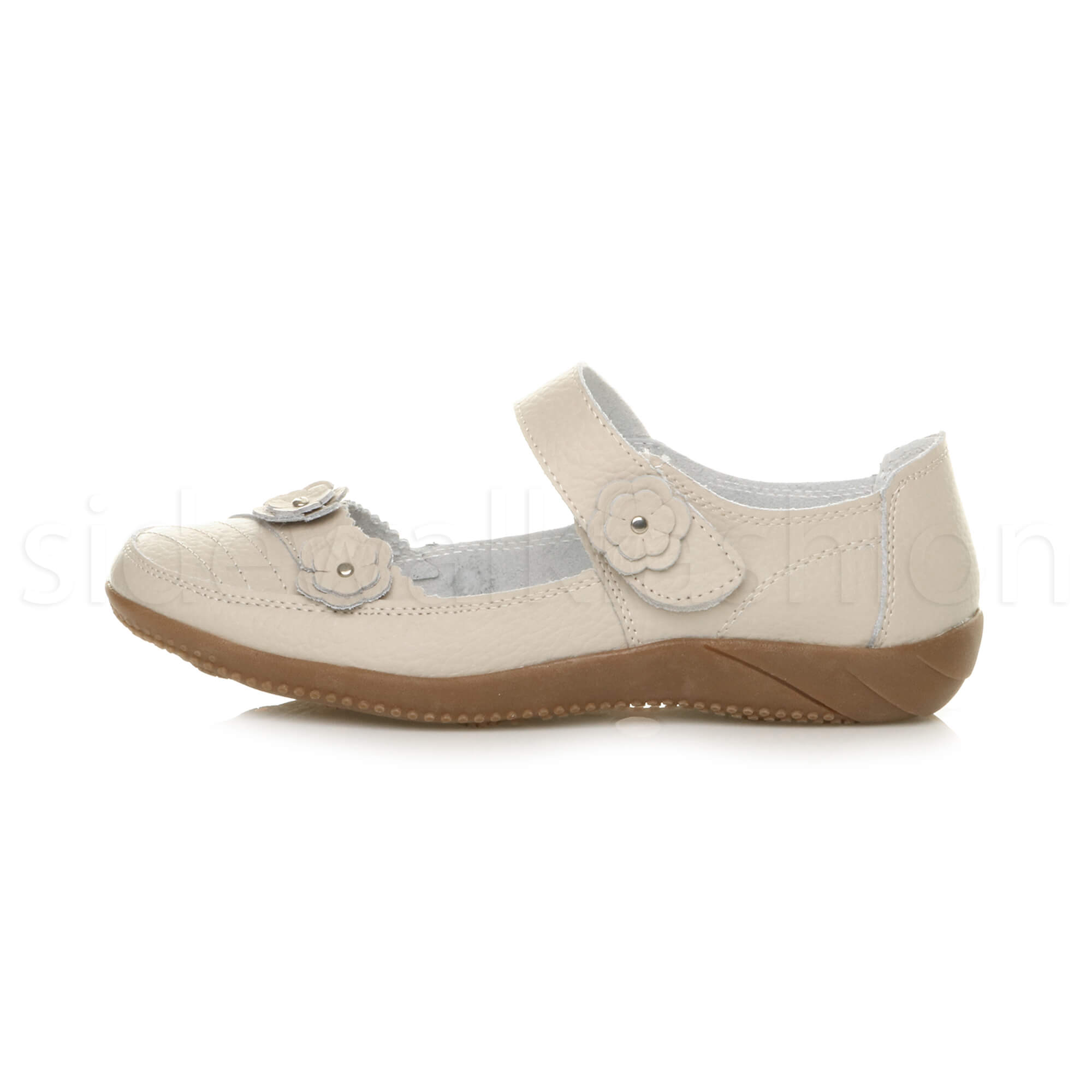 Womens-ladies-leather-comfort-walking-casual-sandals-mary-jane-strap-shoes-size thumbnail 38