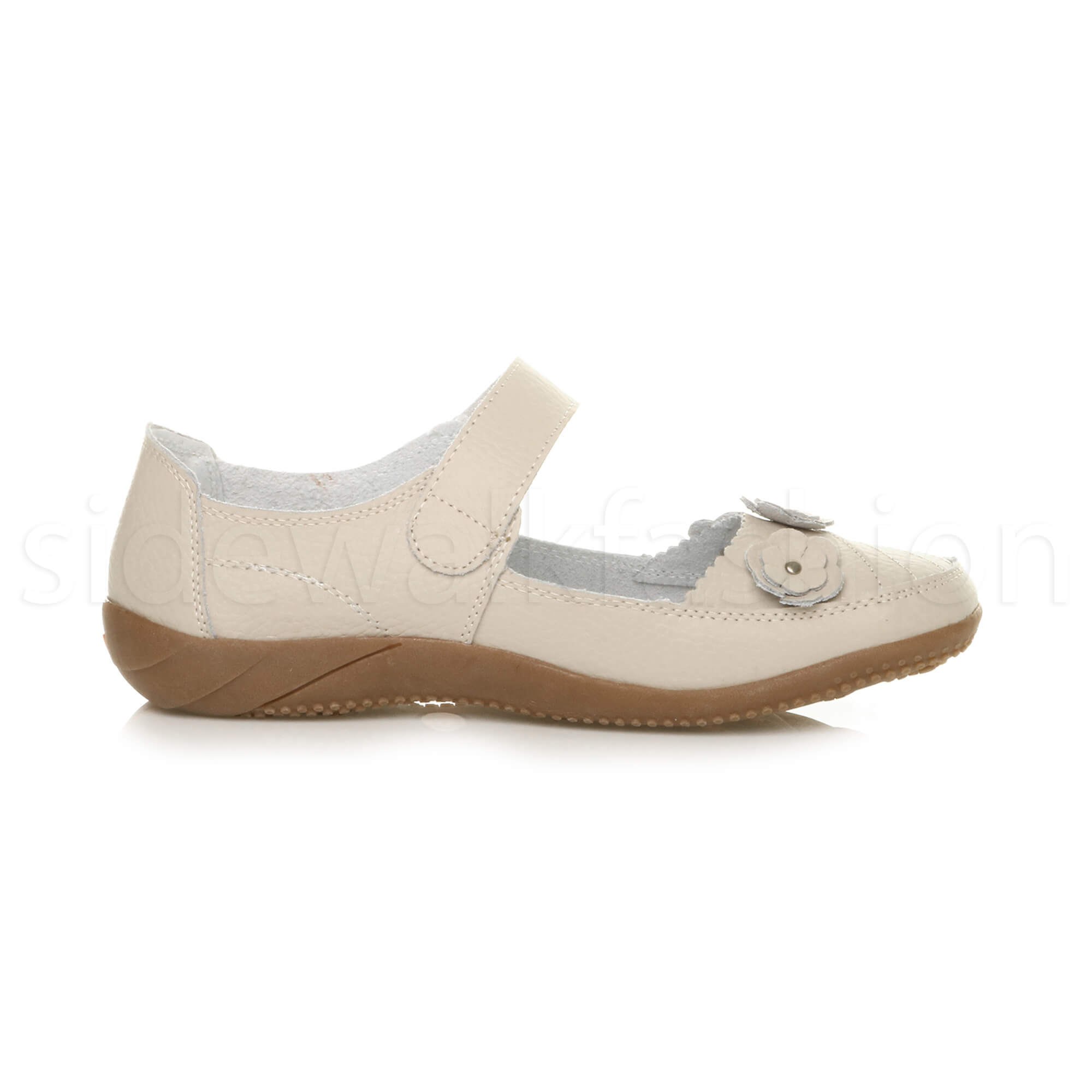 Womens-ladies-leather-comfort-walking-casual-sandals-mary-jane-strap-shoes-size thumbnail 39