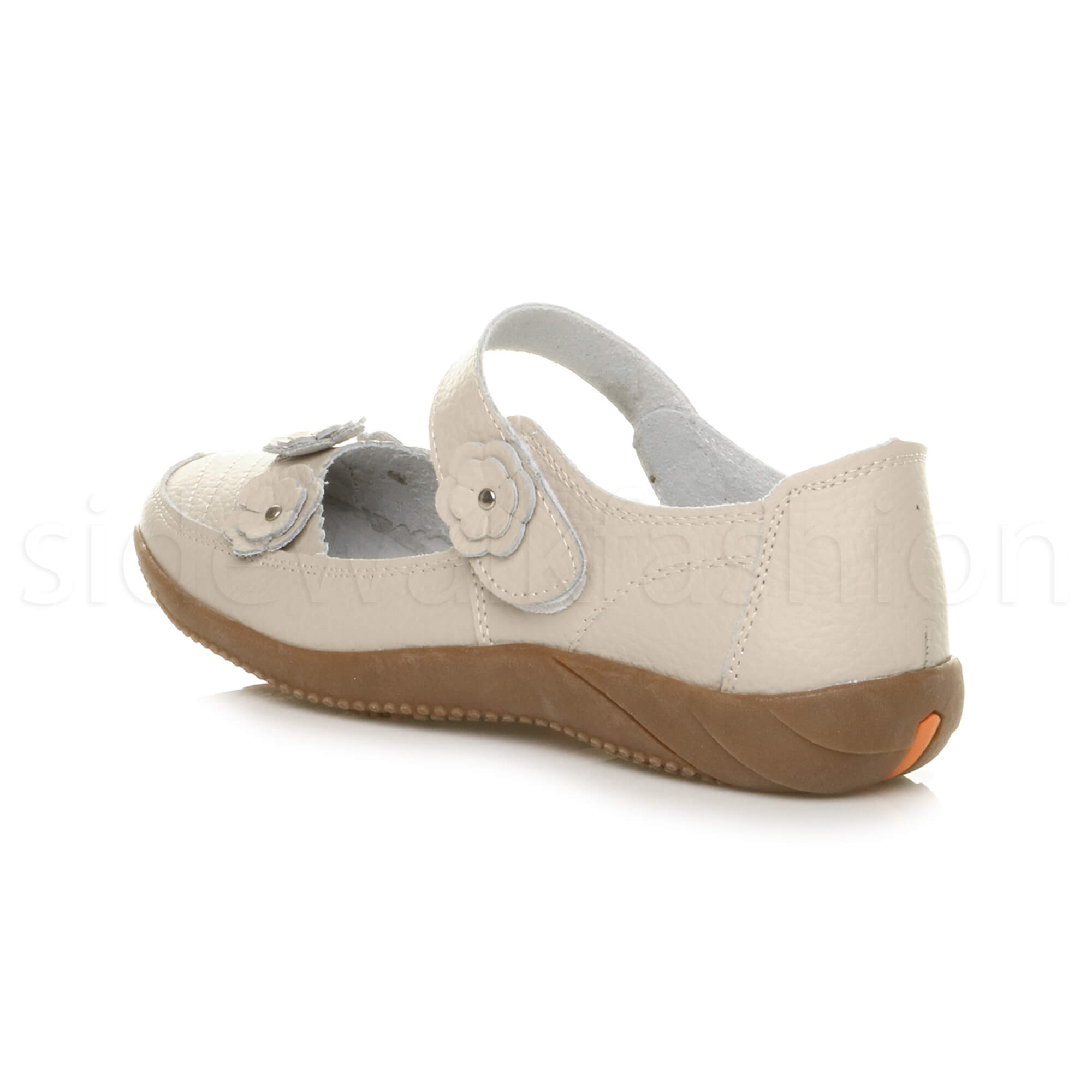 Womens Leather Comfort Shoes Beige
