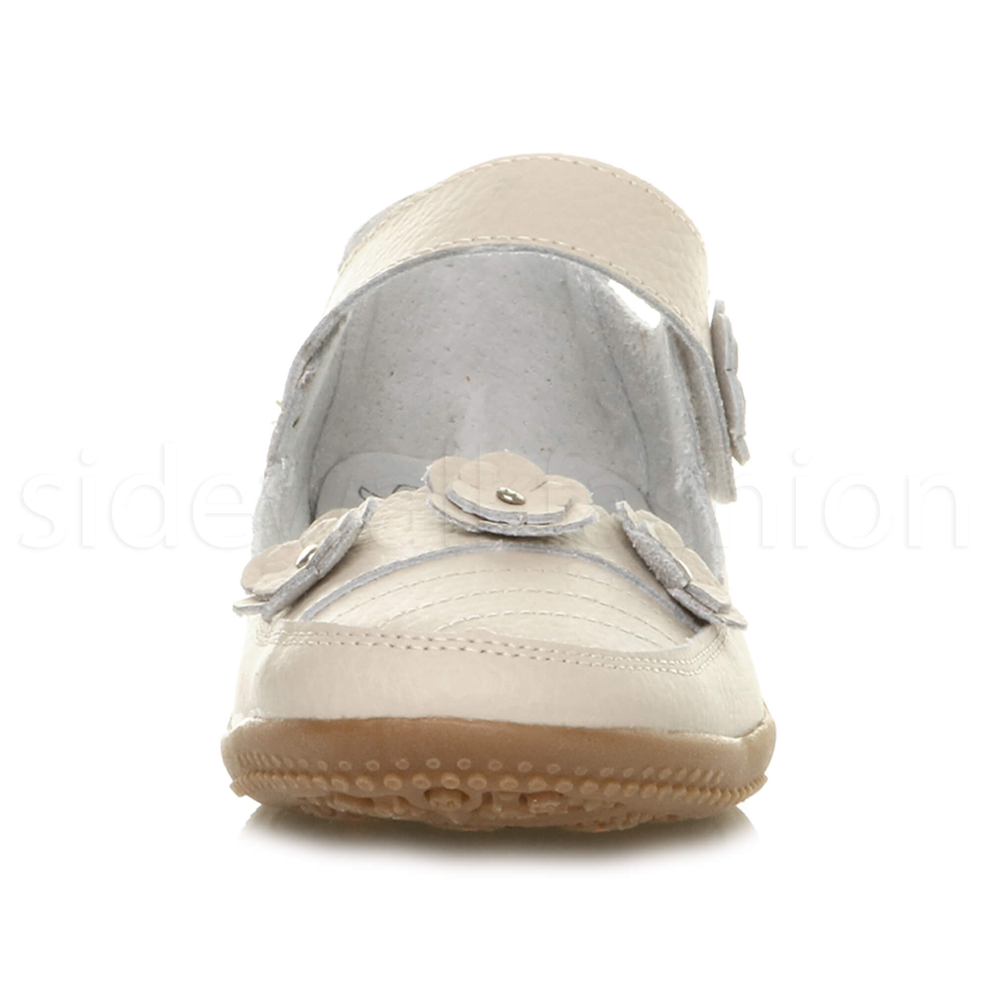 Womens-ladies-leather-comfort-walking-casual-sandals-mary-jane-strap-shoes-size thumbnail 41