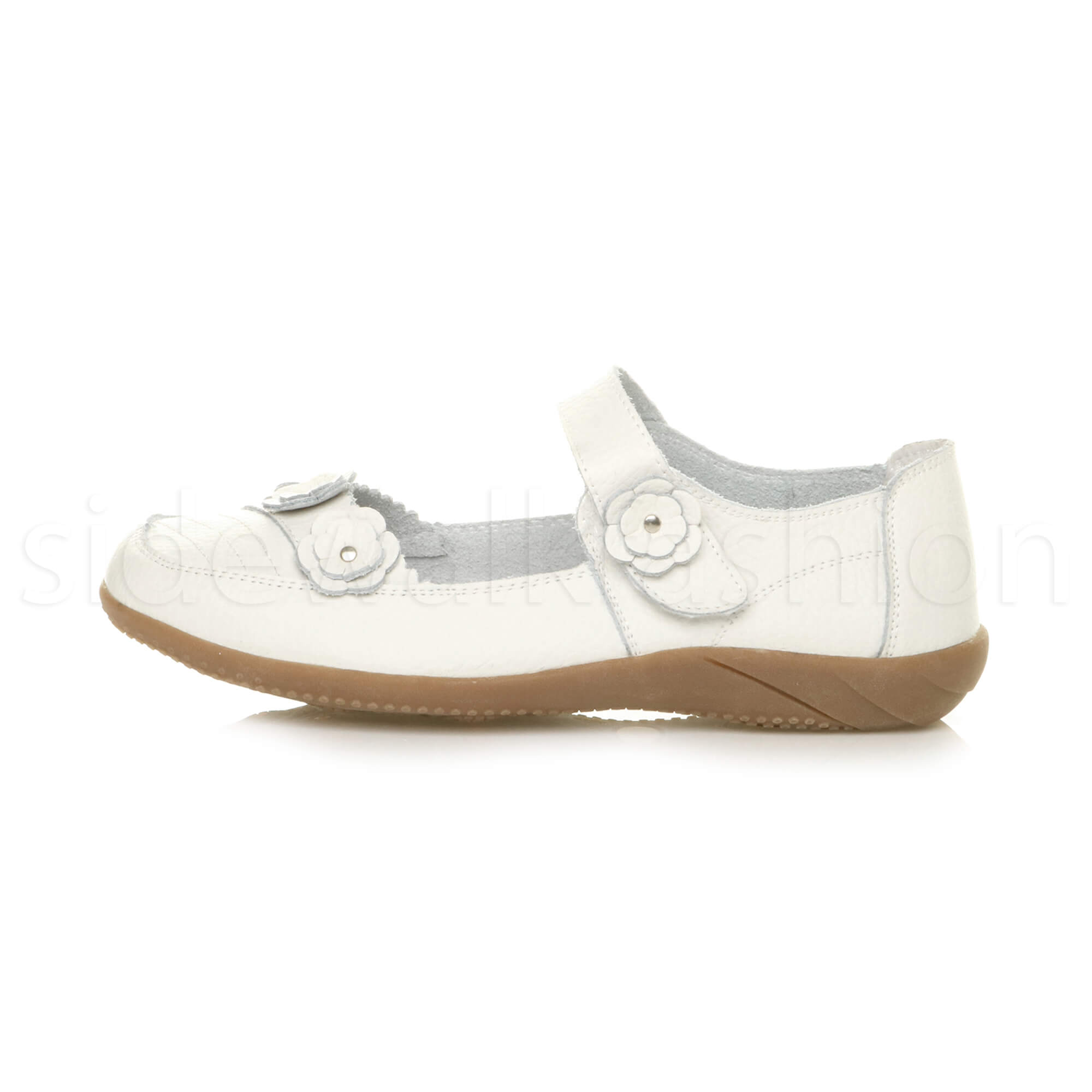 Womens-ladies-leather-comfort-walking-casual-sandals-mary-jane-strap-shoes-size thumbnail 53