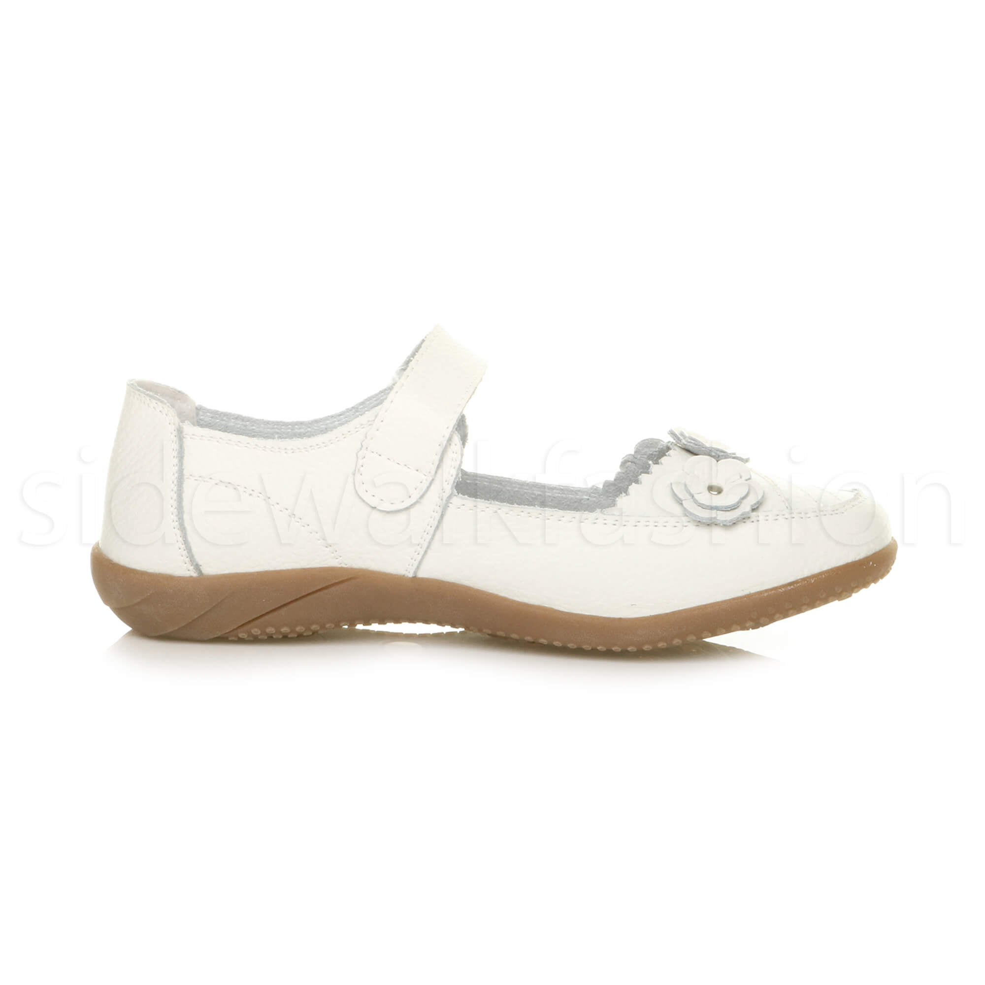 Womens-ladies-leather-comfort-walking-casual-sandals-mary-jane-strap-shoes-size thumbnail 54