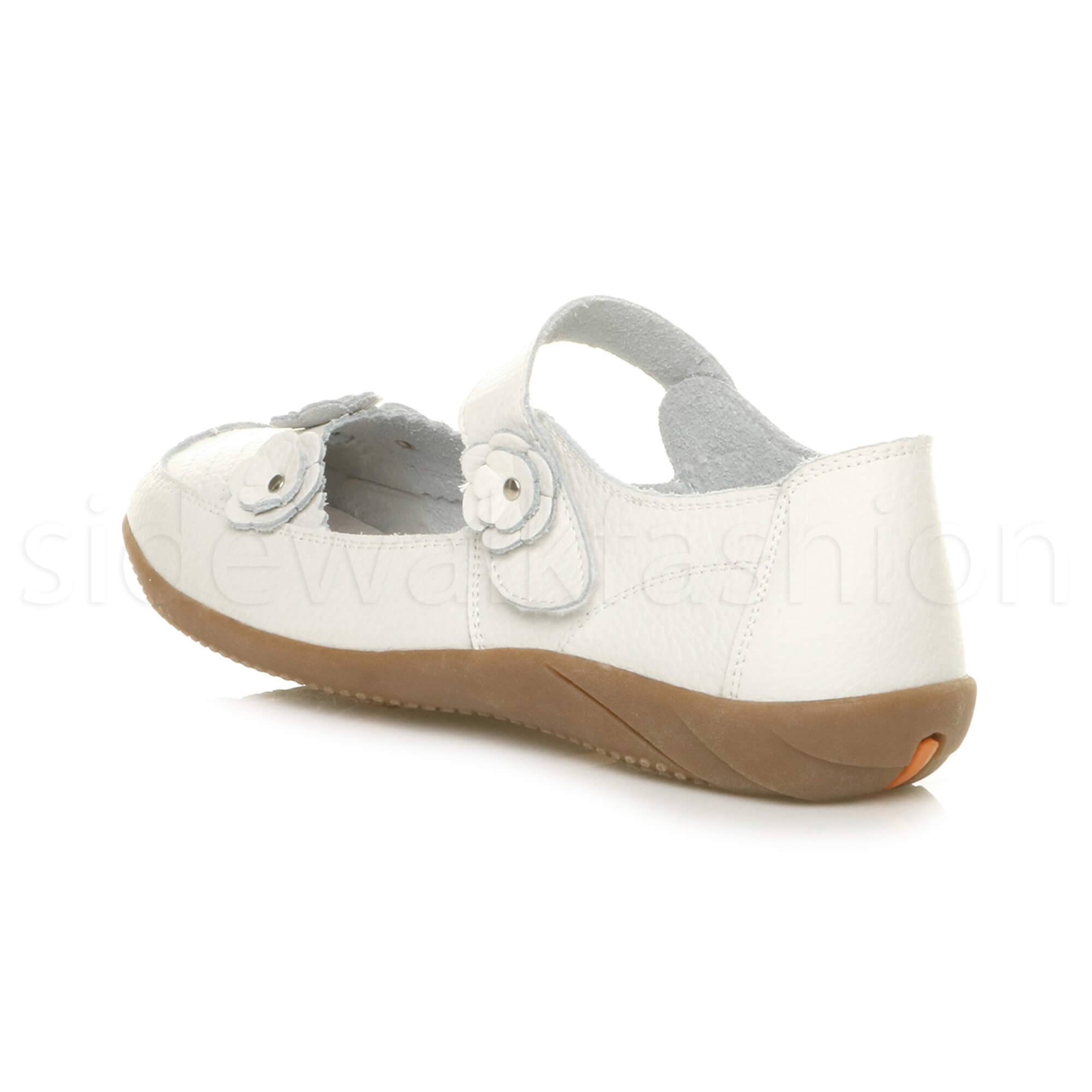 Womens-ladies-leather-comfort-walking-casual-sandals-mary-jane-strap-shoes-size thumbnail 55