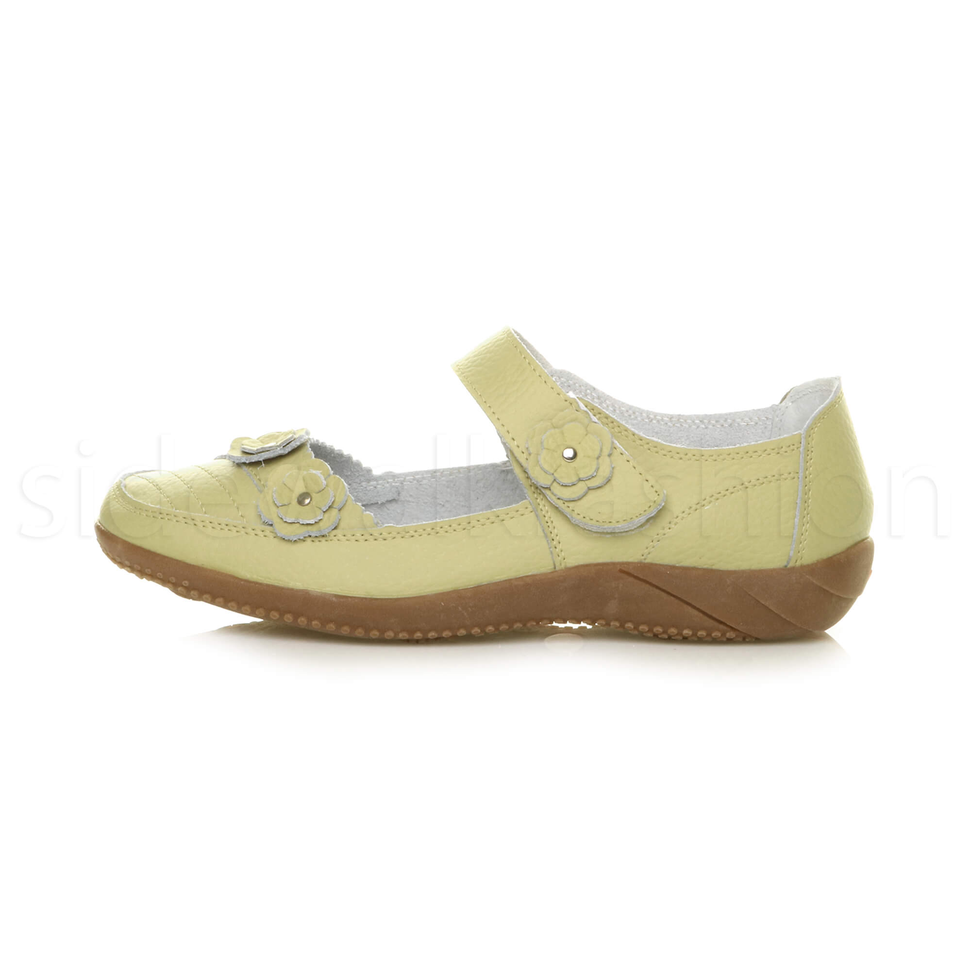 Womens-ladies-leather-comfort-walking-casual-sandals-mary-jane-strap-shoes-size thumbnail 43