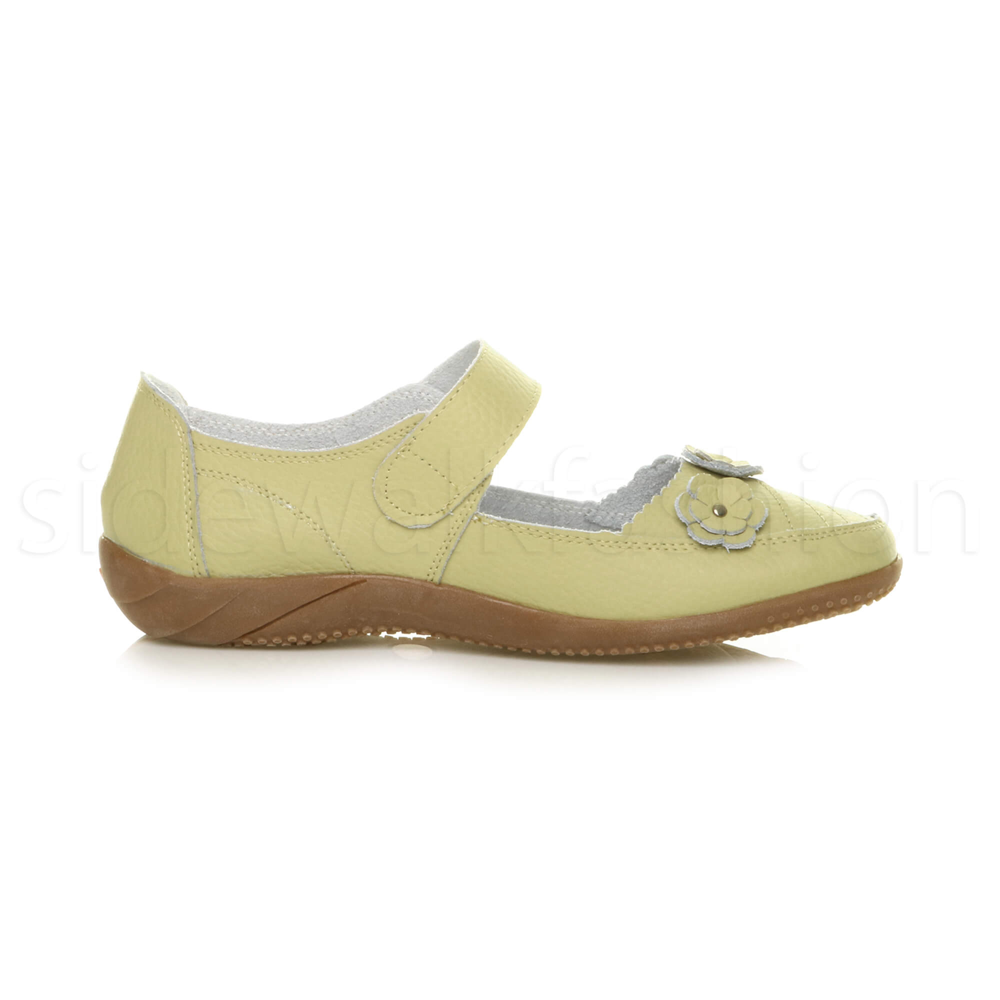 Womens-ladies-leather-comfort-walking-casual-sandals-mary-jane-strap-shoes-size thumbnail 44