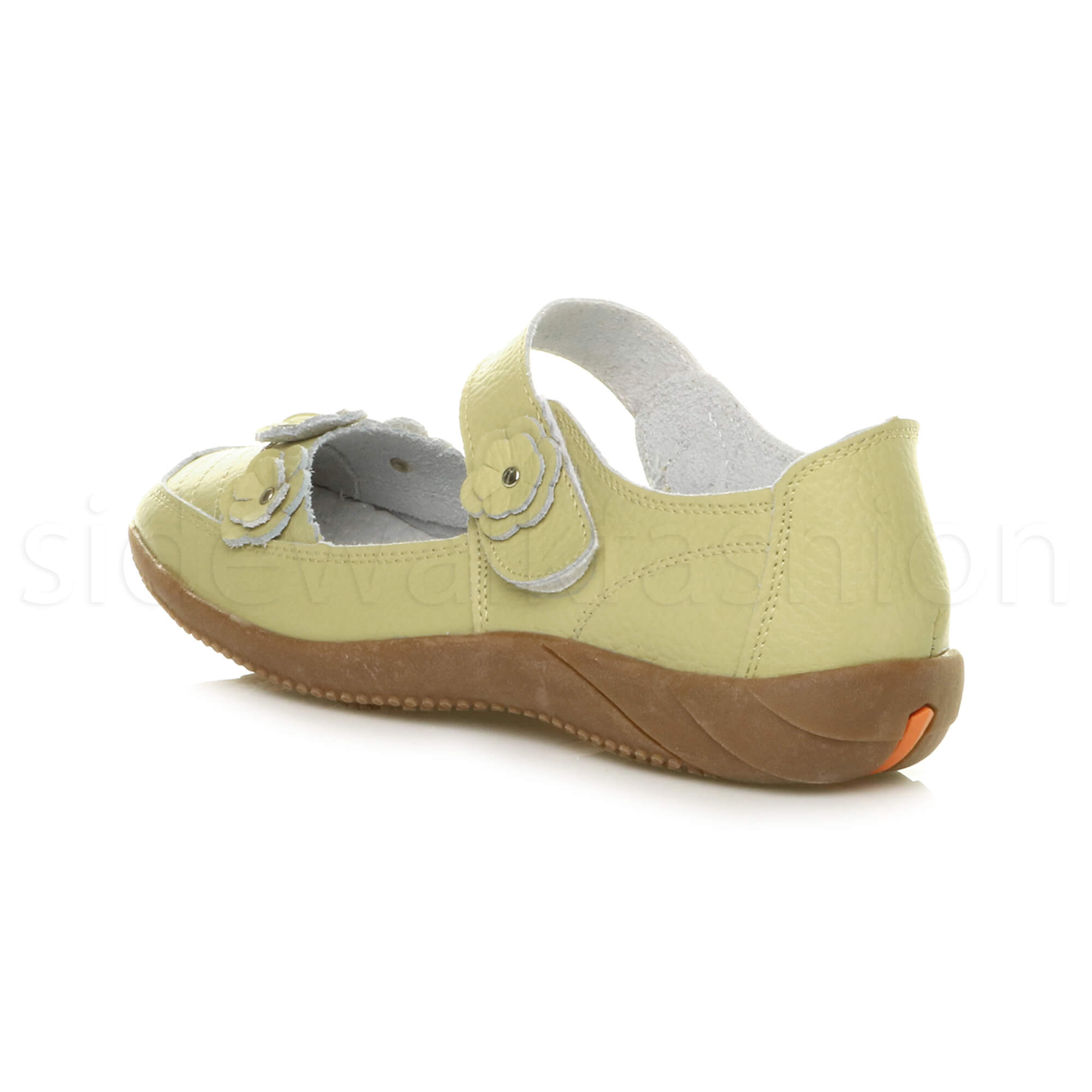 Womens-ladies-leather-comfort-walking-casual-sandals-mary-jane-strap-shoes-size thumbnail 45