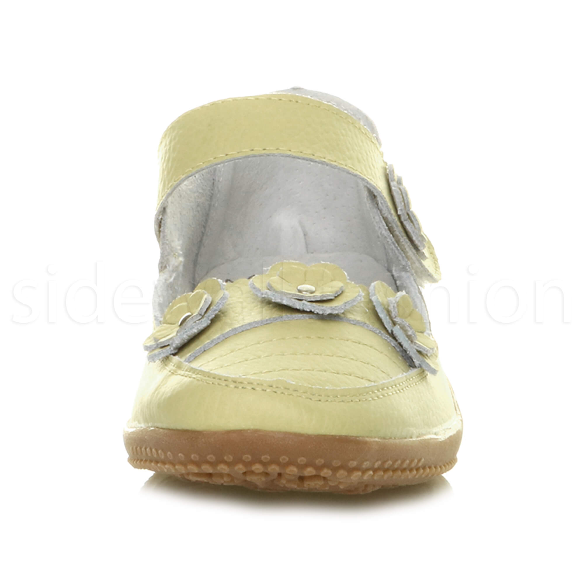 Womens-ladies-leather-comfort-walking-casual-sandals-mary-jane-strap-shoes-size thumbnail 46