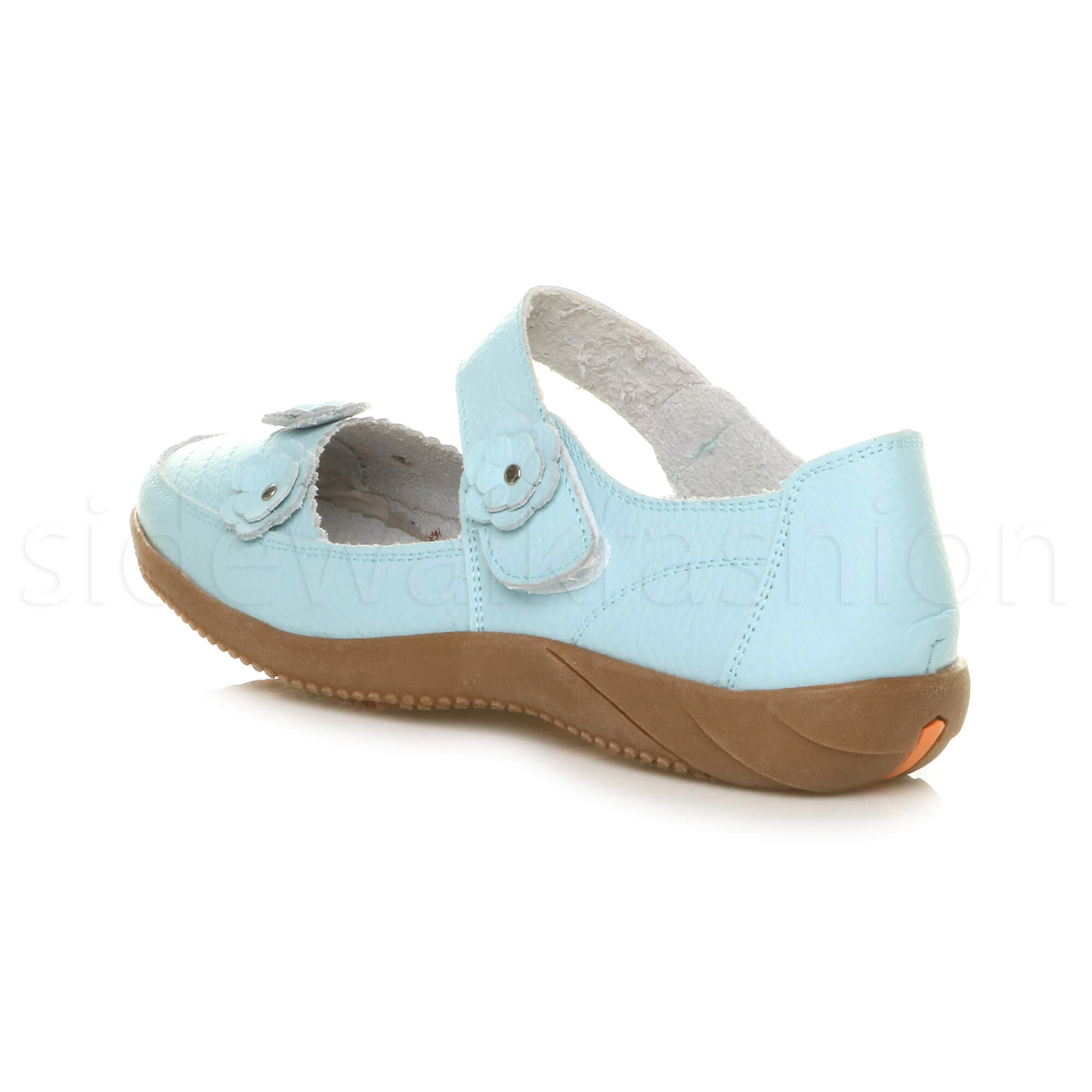 Womens-ladies-leather-comfort-walking-casual-sandals-mary-jane-strap-shoes-size thumbnail 50