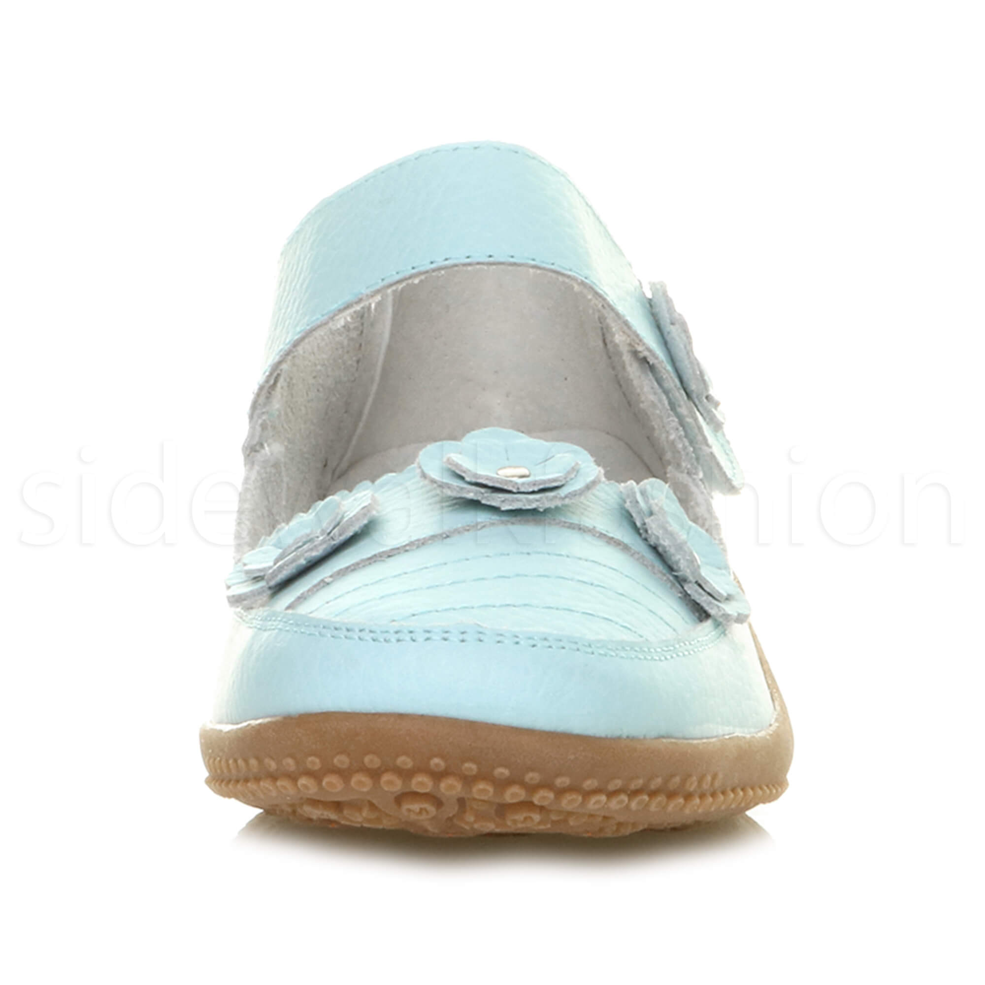 Womens-ladies-leather-comfort-walking-casual-sandals-mary-jane-strap-shoes-size thumbnail 51