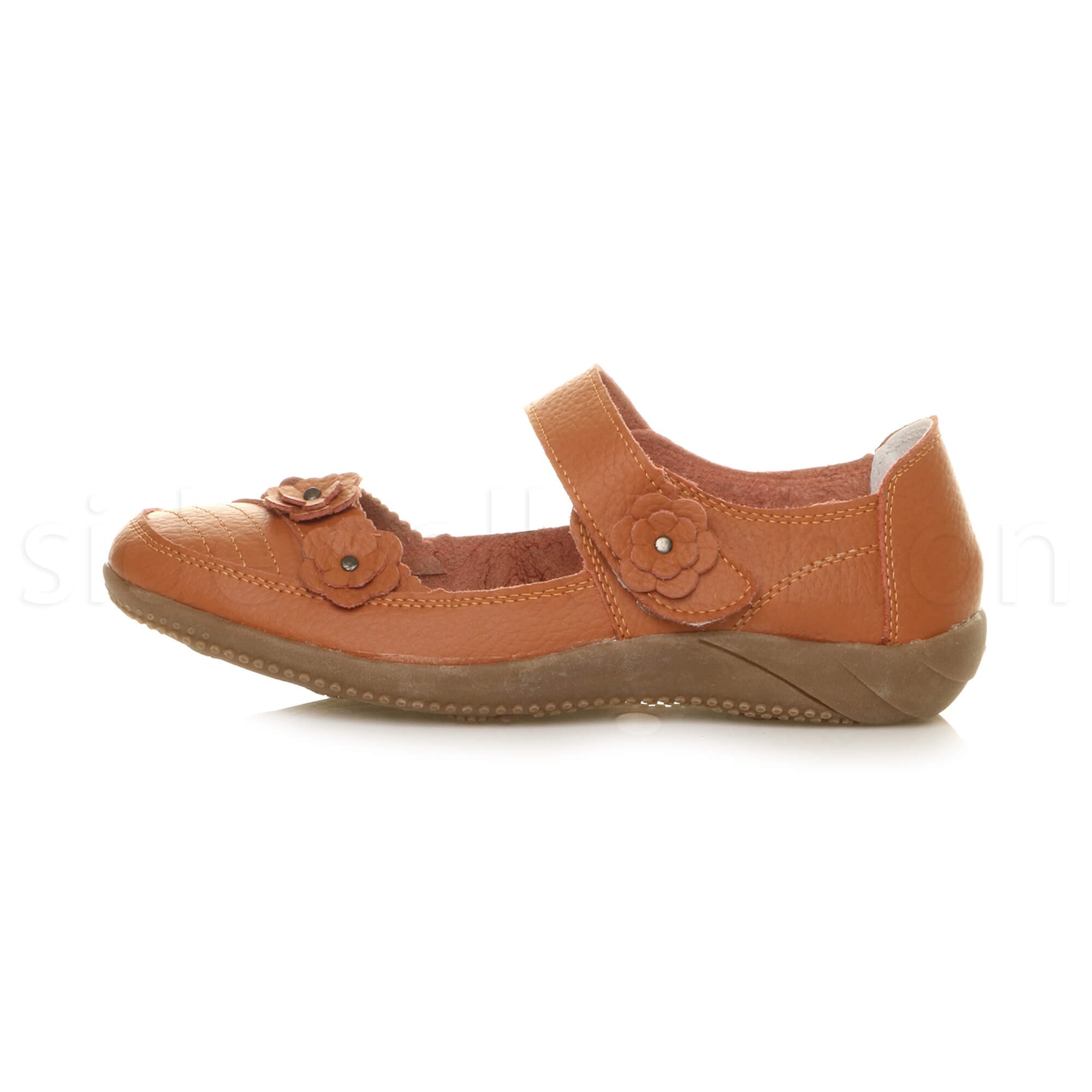 Womens-ladies-leather-comfort-walking-casual-sandals-mary-jane-strap-shoes-size thumbnail 13