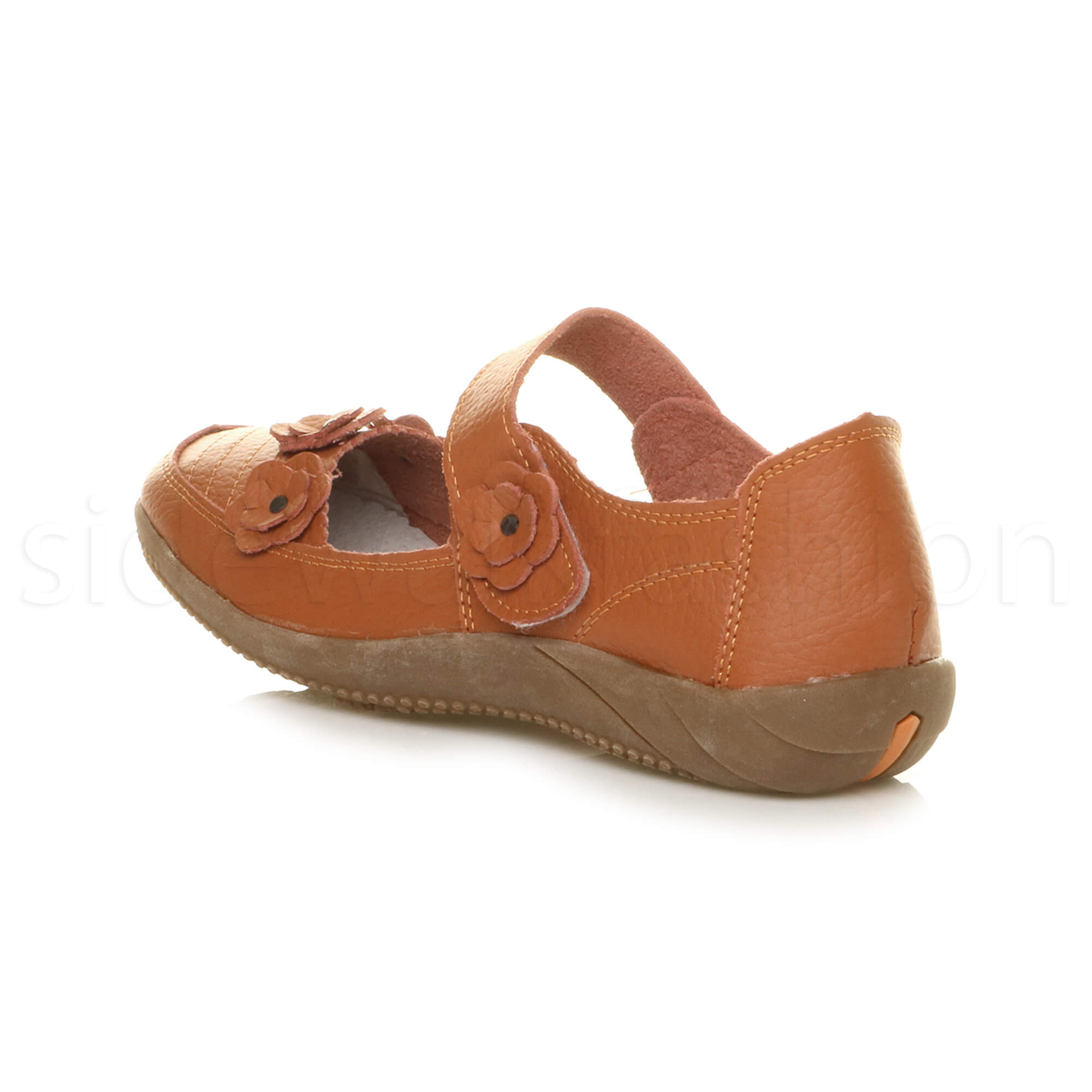 Womens-ladies-leather-comfort-walking-casual-sandals-mary-jane-strap-shoes-size thumbnail 15