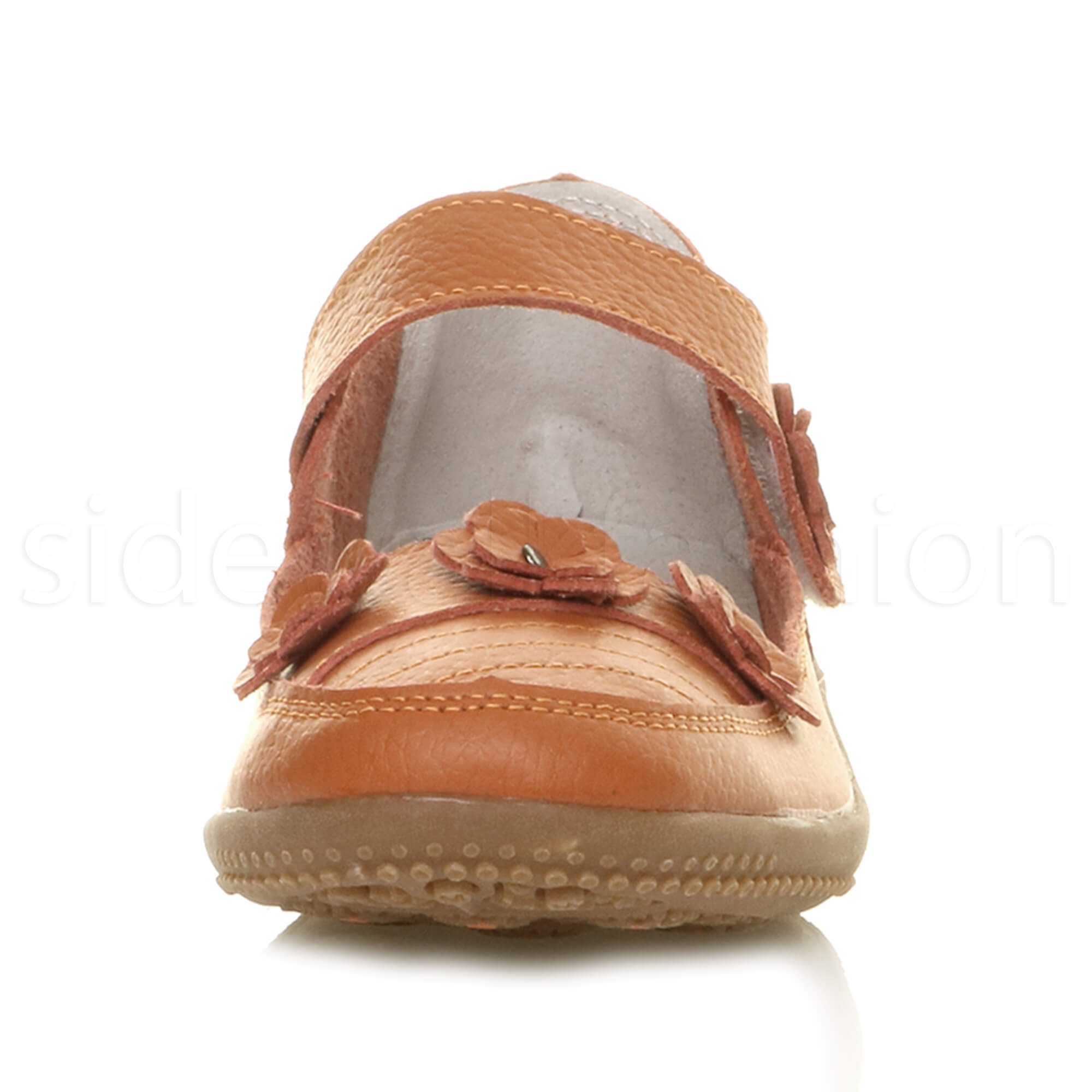 Womens-ladies-leather-comfort-walking-casual-sandals-mary-jane-strap-shoes-size thumbnail 16