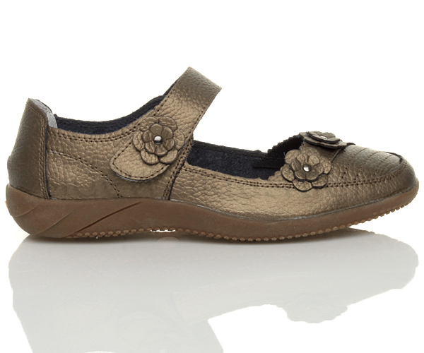 Womens-ladies-leather-comfort-walking-casual-sandals-mary-jane-strap-shoes-size thumbnail 28