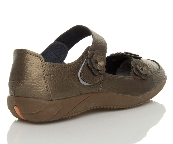 Womens-ladies-leather-comfort-walking-casual-sandals-mary-jane-strap-shoes-size thumbnail 30