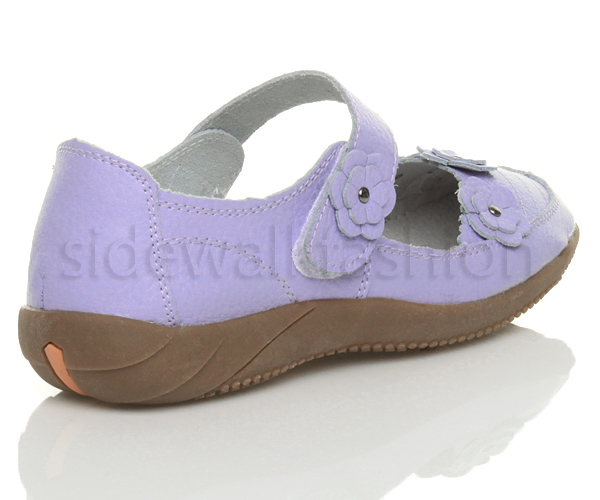 Womens-ladies-leather-comfort-walking-casual-sandals-mary-jane-strap-shoes-size thumbnail 25