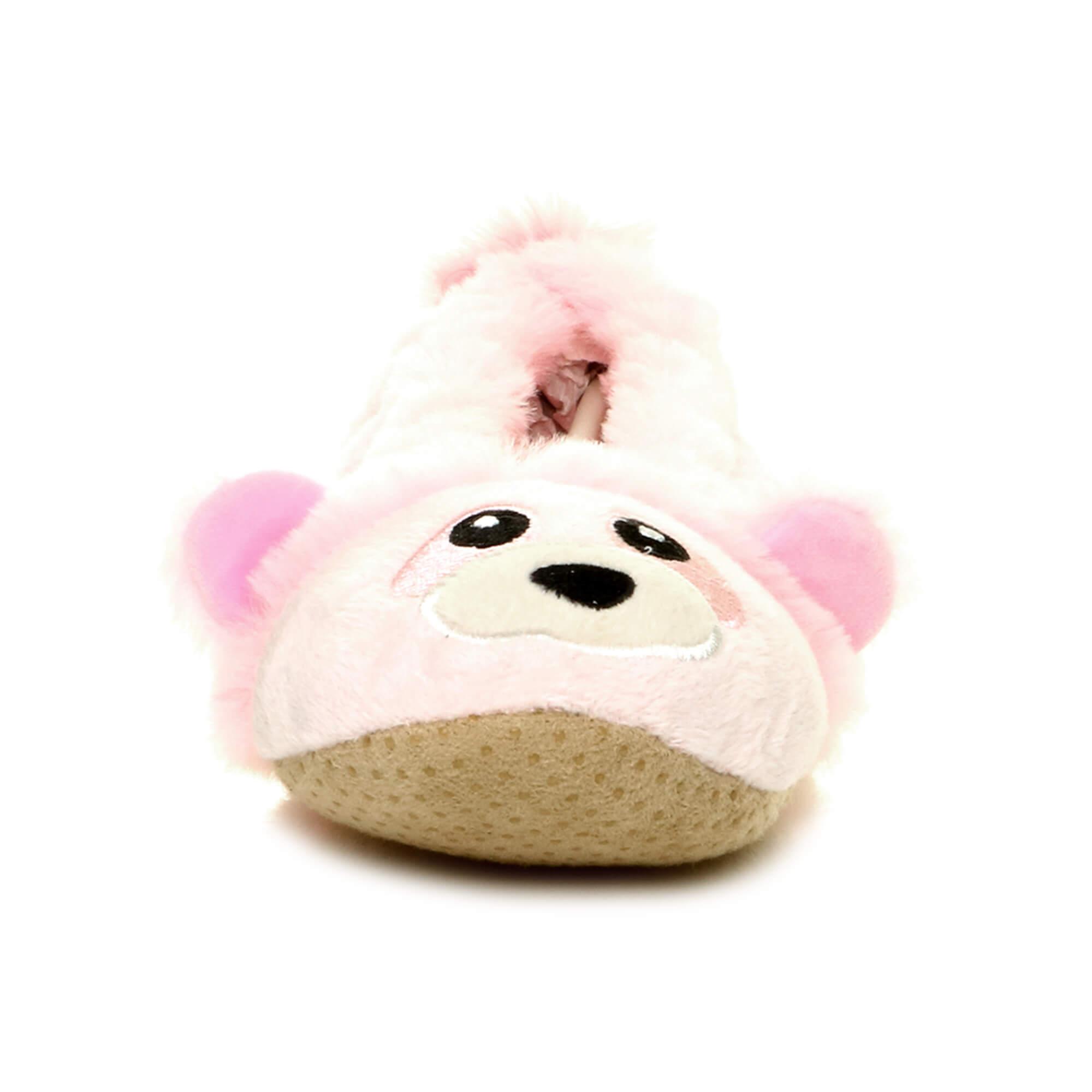 Womens-ladies-raccoon-bear-face-novelty-gift-elastic-slip-on-slippers-socks-size thumbnail 7