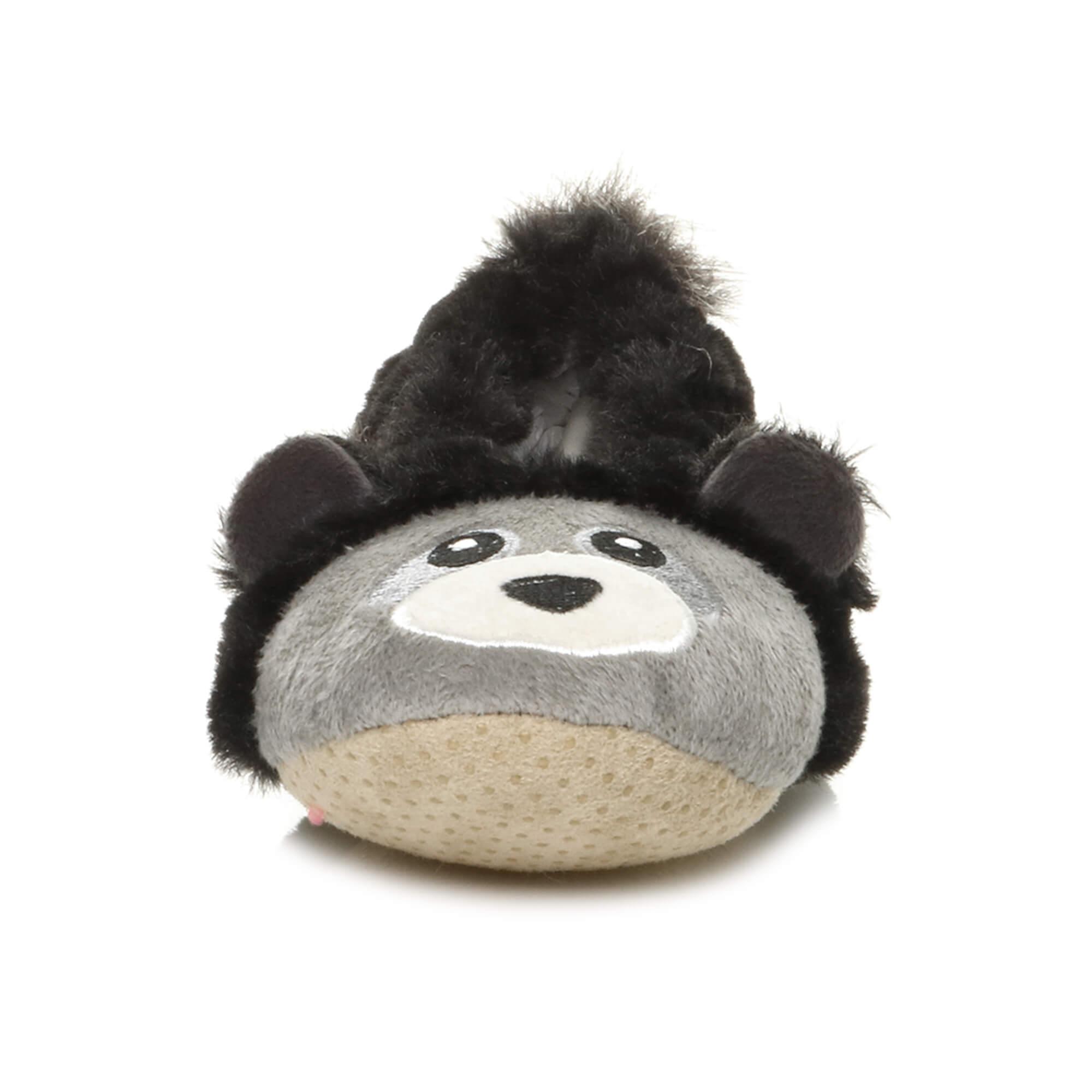 Womens-ladies-raccoon-bear-face-novelty-gift-elastic-slip-on-slippers-socks-size thumbnail 23