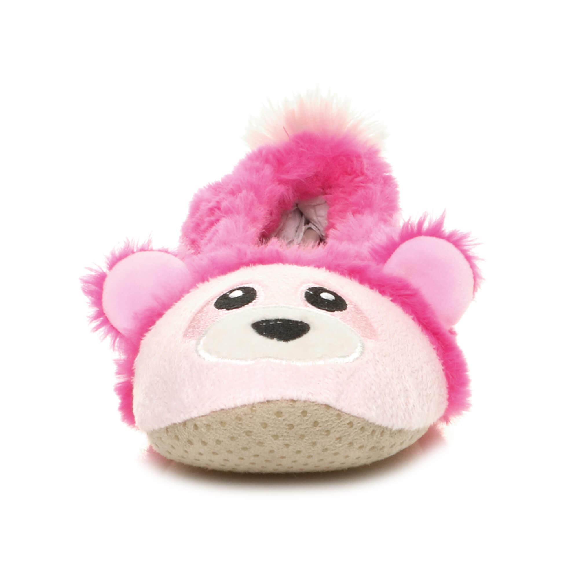 Womens-ladies-raccoon-bear-face-novelty-gift-elastic-slip-on-slippers-socks-size thumbnail 31