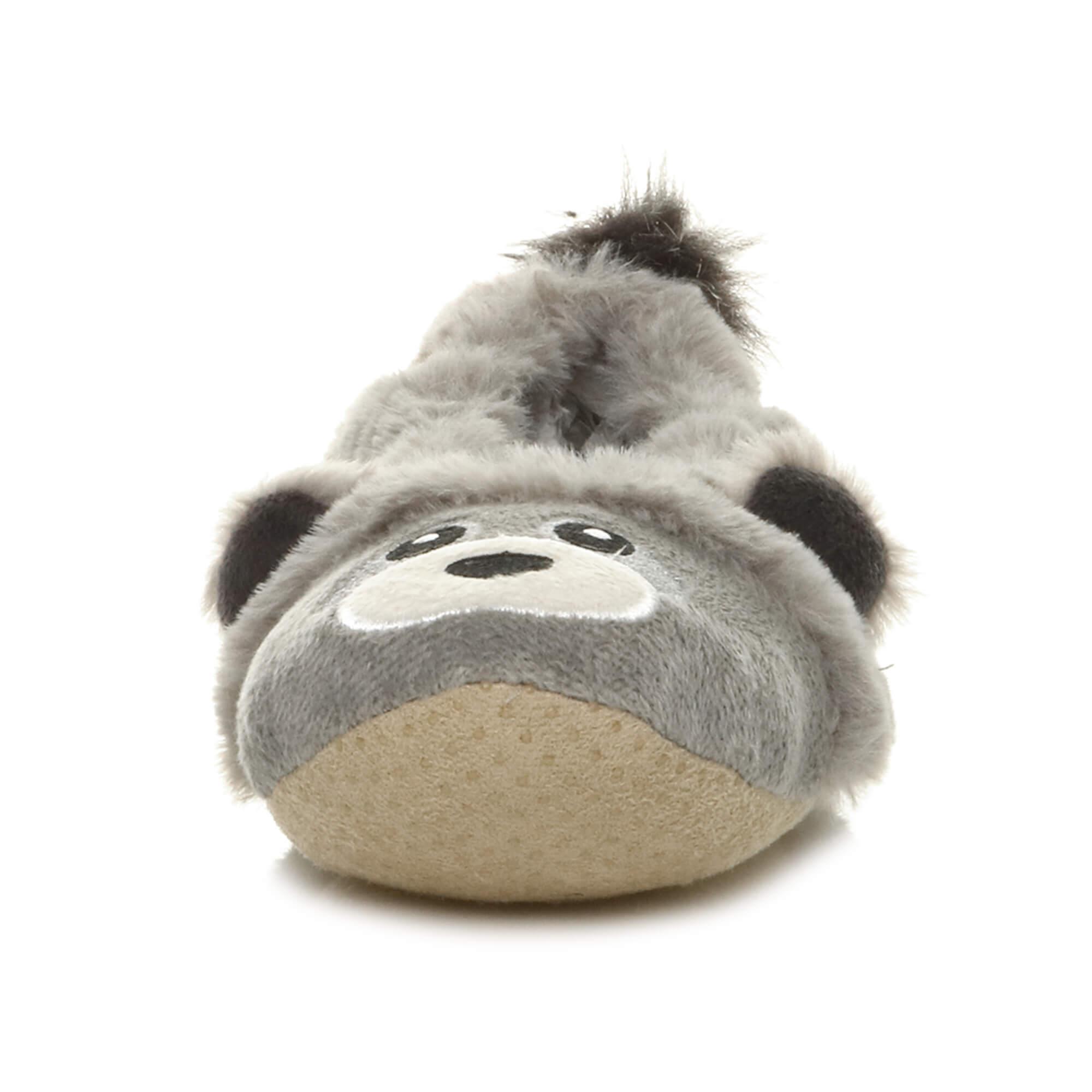 Womens-ladies-raccoon-bear-face-novelty-gift-elastic-slip-on-slippers-socks-size thumbnail 39