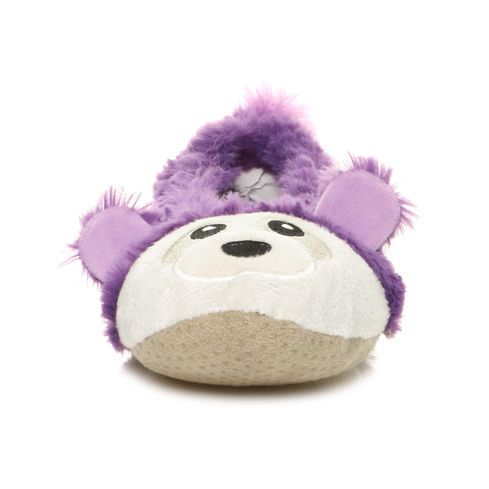 Womens-ladies-raccoon-bear-face-novelty-gift-elastic-slip-on-slippers-socks-size thumbnail 55