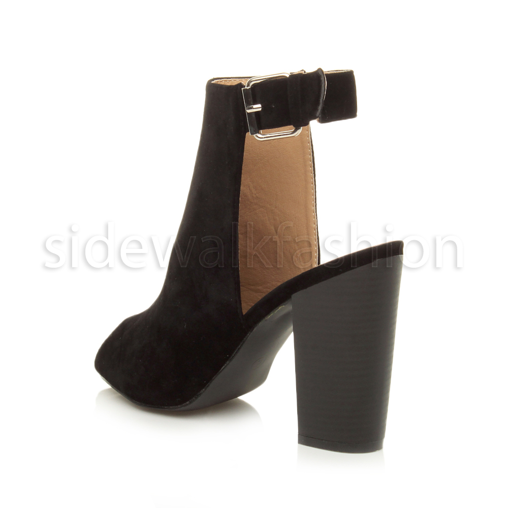 Cut Out Peep Toe Shoe Boots