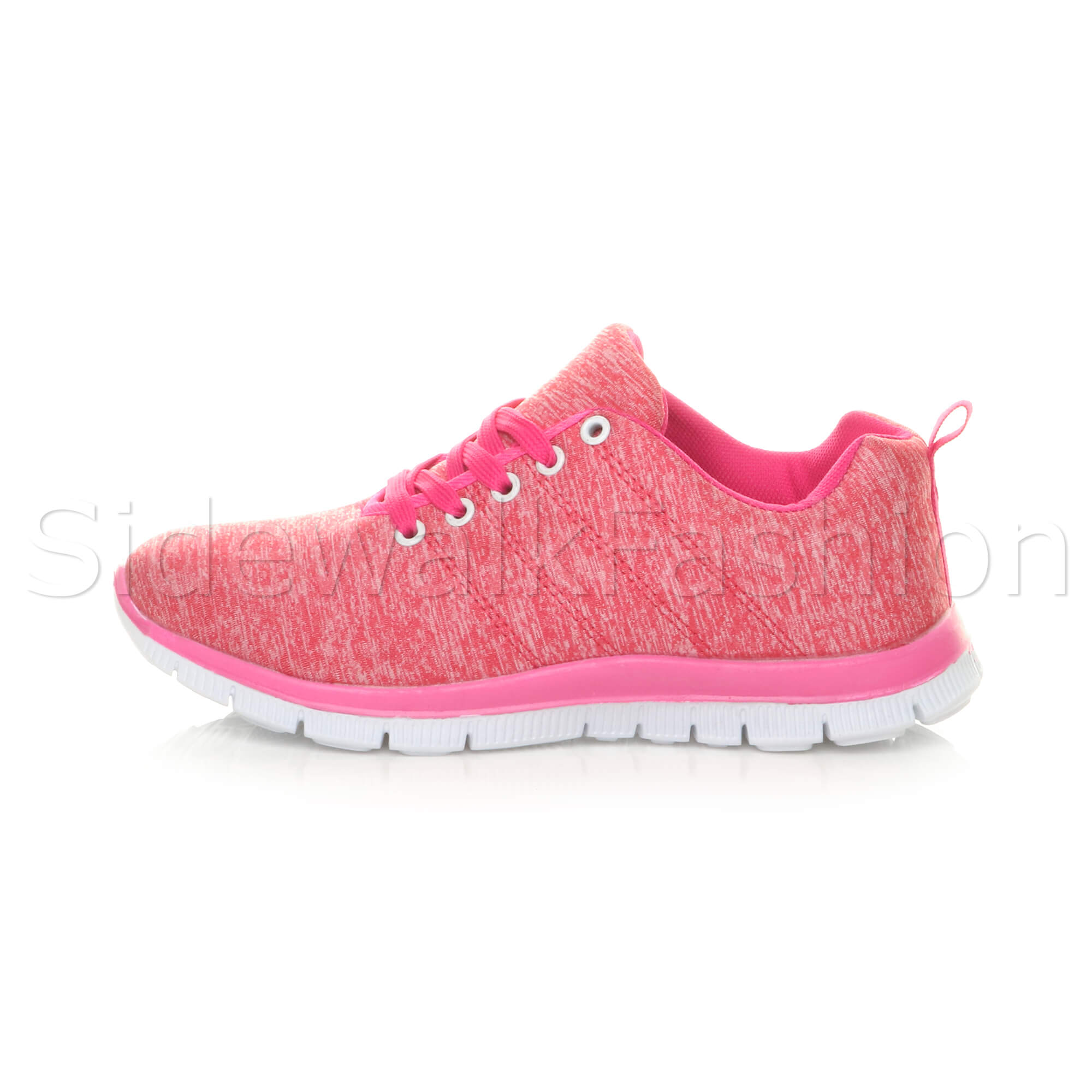 Womens-ladies-comfort-memory-foam-lace-up-trainers-activewear-sneakers-gym-shoes thumbnail 37
