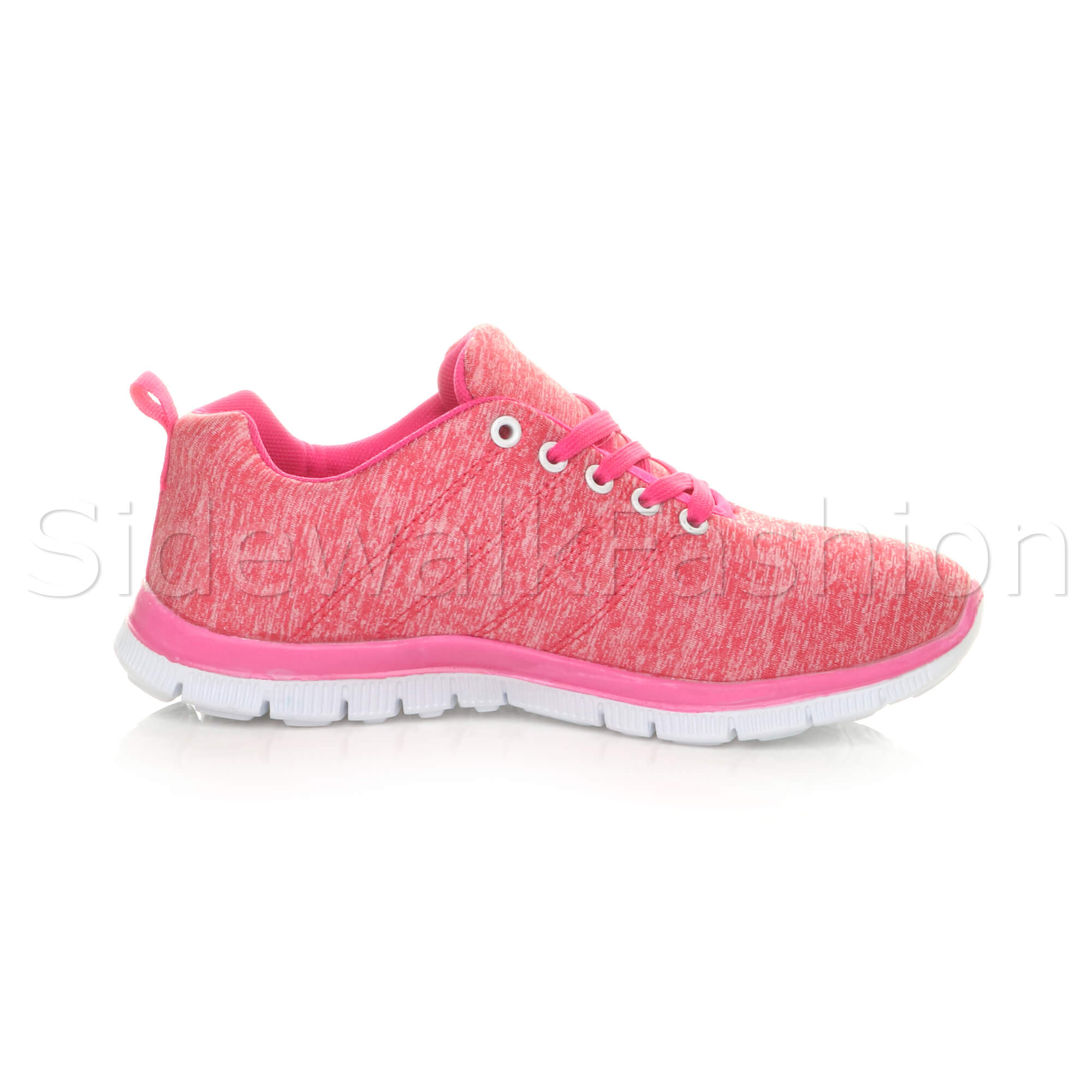 Womens-ladies-comfort-memory-foam-lace-up-trainers-activewear-sneakers-gym-shoes thumbnail 38