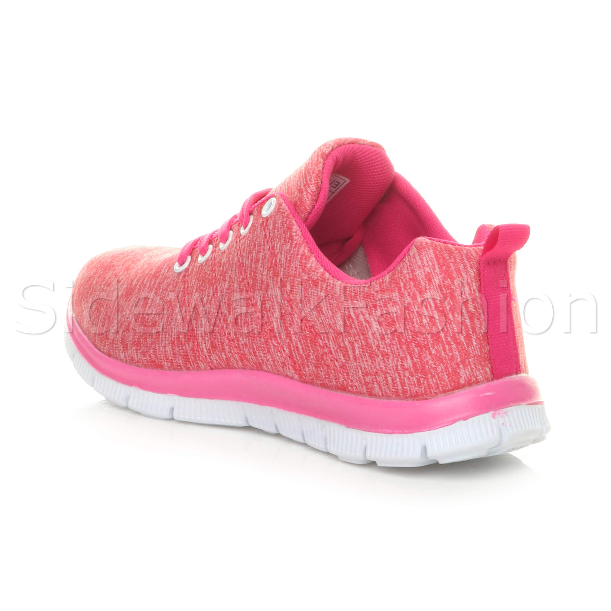 Womens-ladies-comfort-memory-foam-lace-up-trainers-activewear-sneakers-gym-shoes thumbnail 39