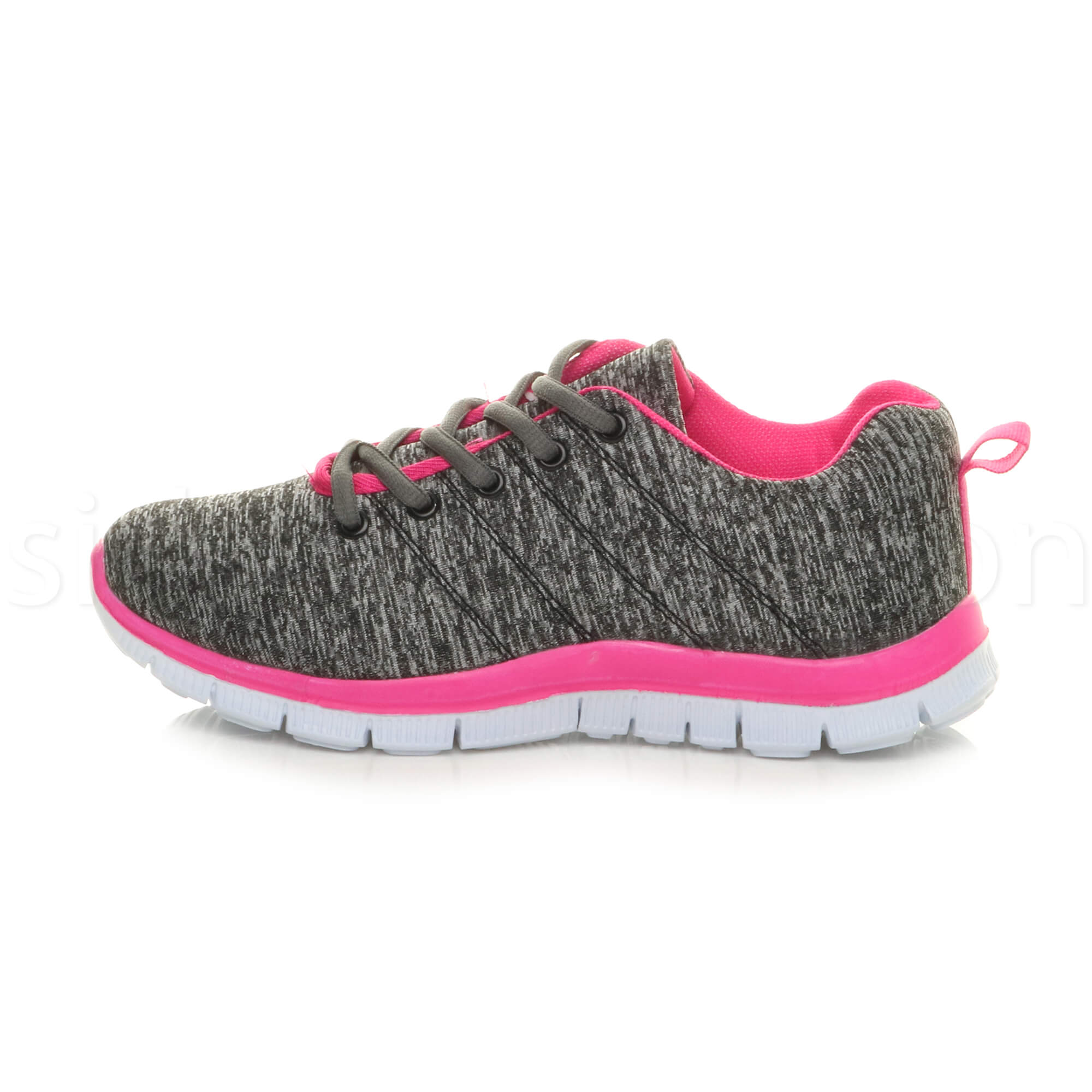 Womens-ladies-comfort-memory-foam-lace-up-trainers-activewear-sneakers-gym-shoes thumbnail 57