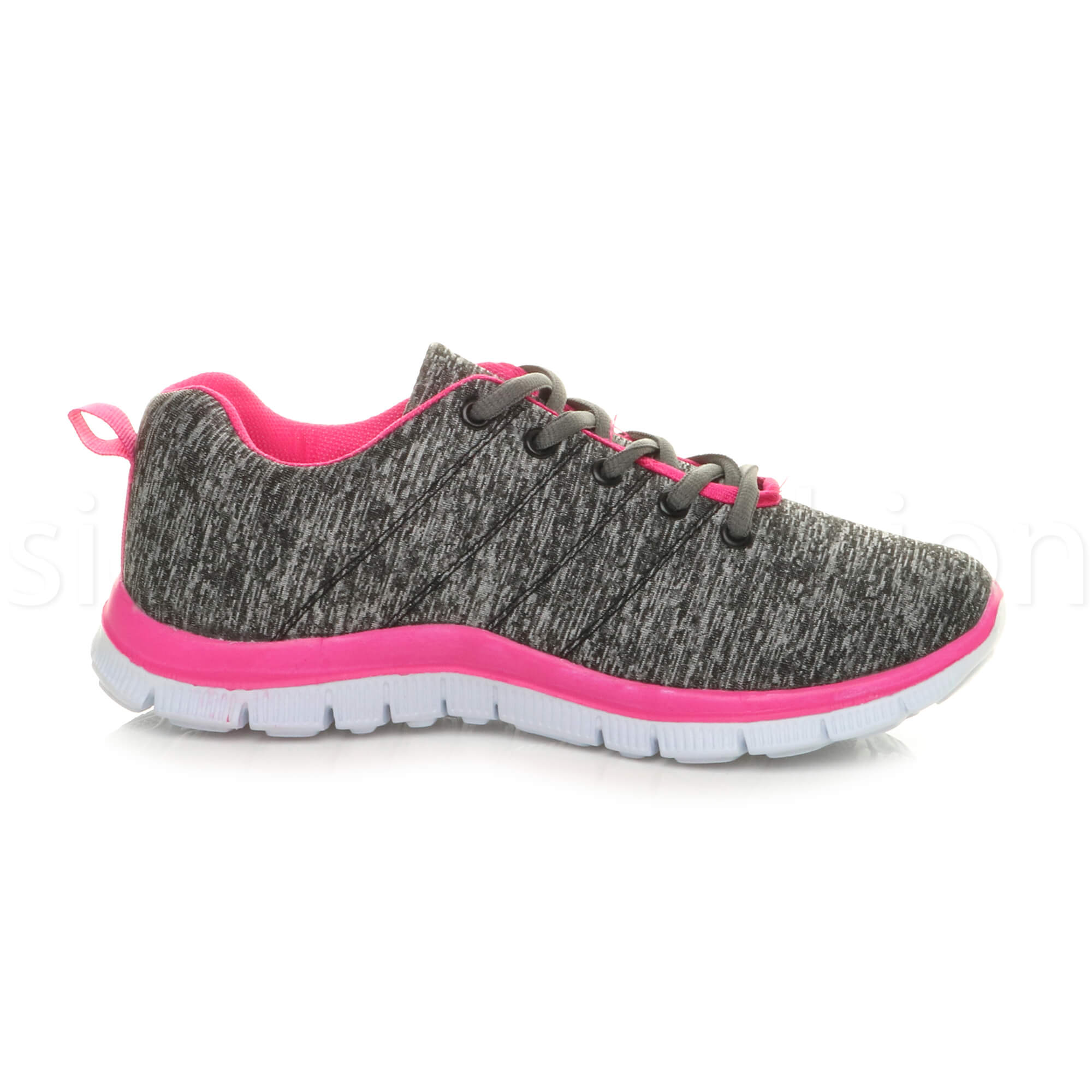 Womens-ladies-comfort-memory-foam-lace-up-trainers-activewear-sneakers-gym-shoes thumbnail 58