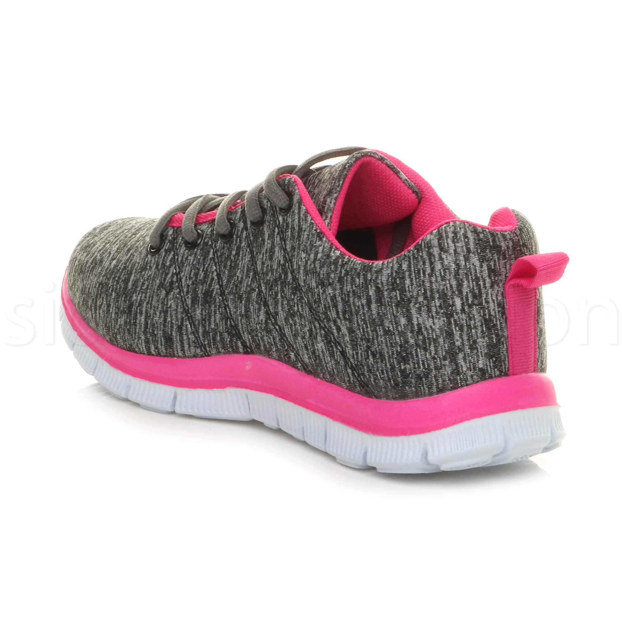 Womens-ladies-comfort-memory-foam-lace-up-trainers-activewear-sneakers-gym-shoes thumbnail 59