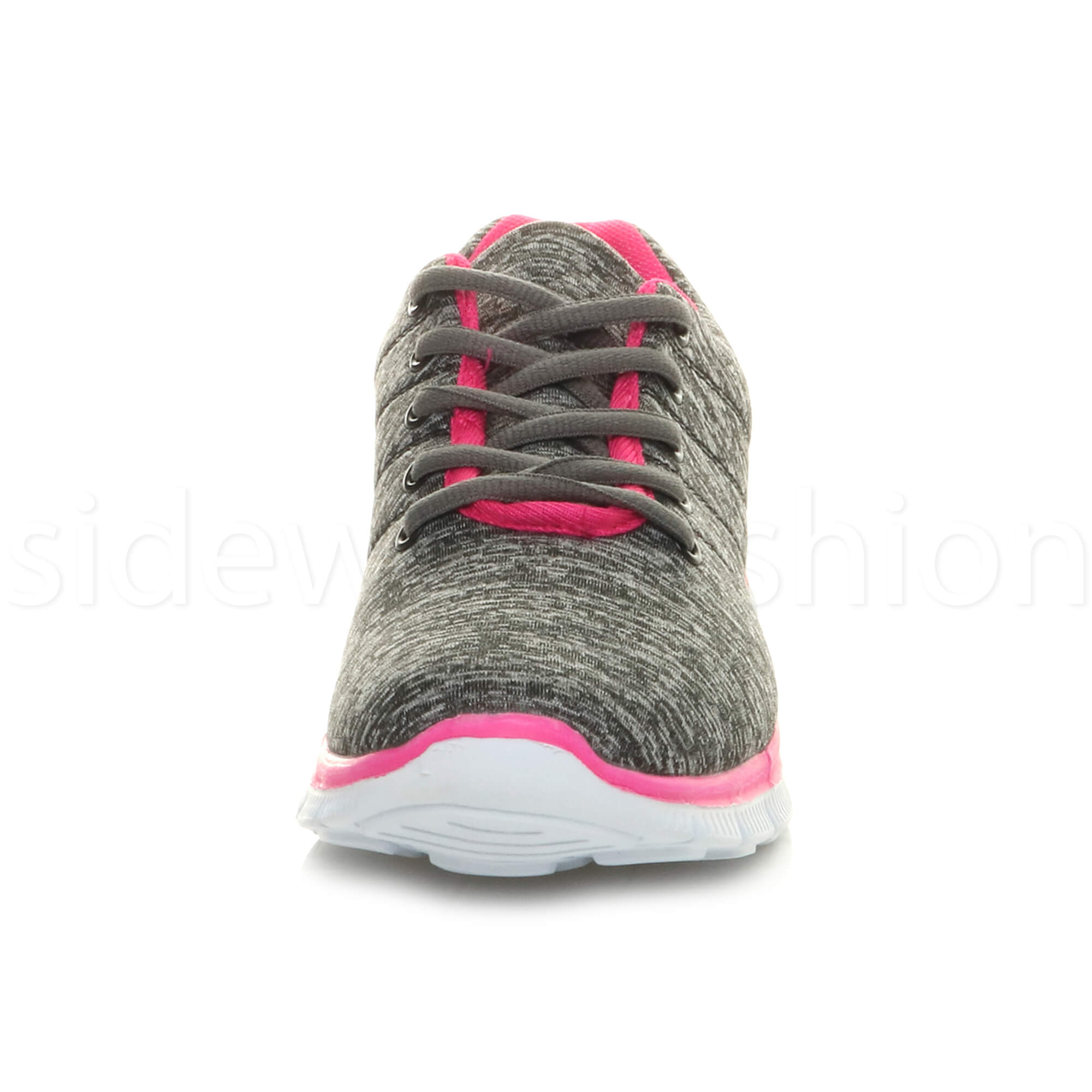 Womens-ladies-comfort-memory-foam-lace-up-trainers-activewear-sneakers-gym-shoes thumbnail 61