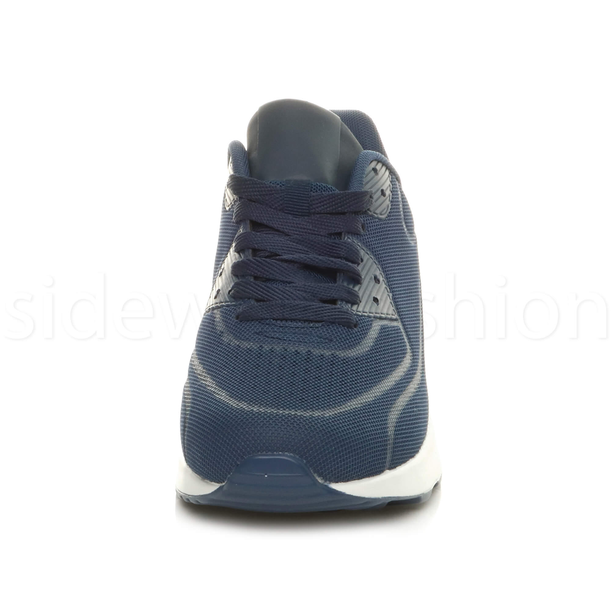 miniatuur 47 - Mens cushioned gym running sports lace up mesh casual trainers sneakers size
