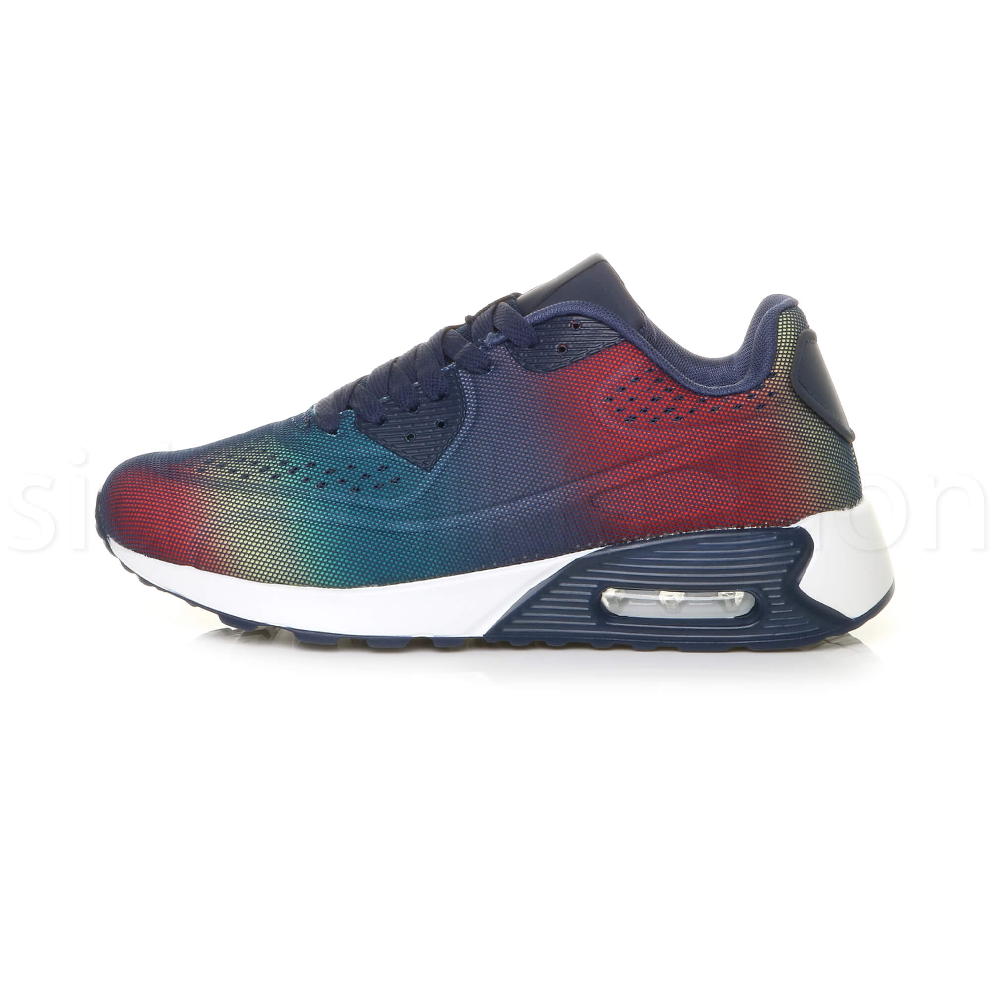 miniatuur 35 - Mens cushioned gym running sports lace up mesh casual trainers sneakers size