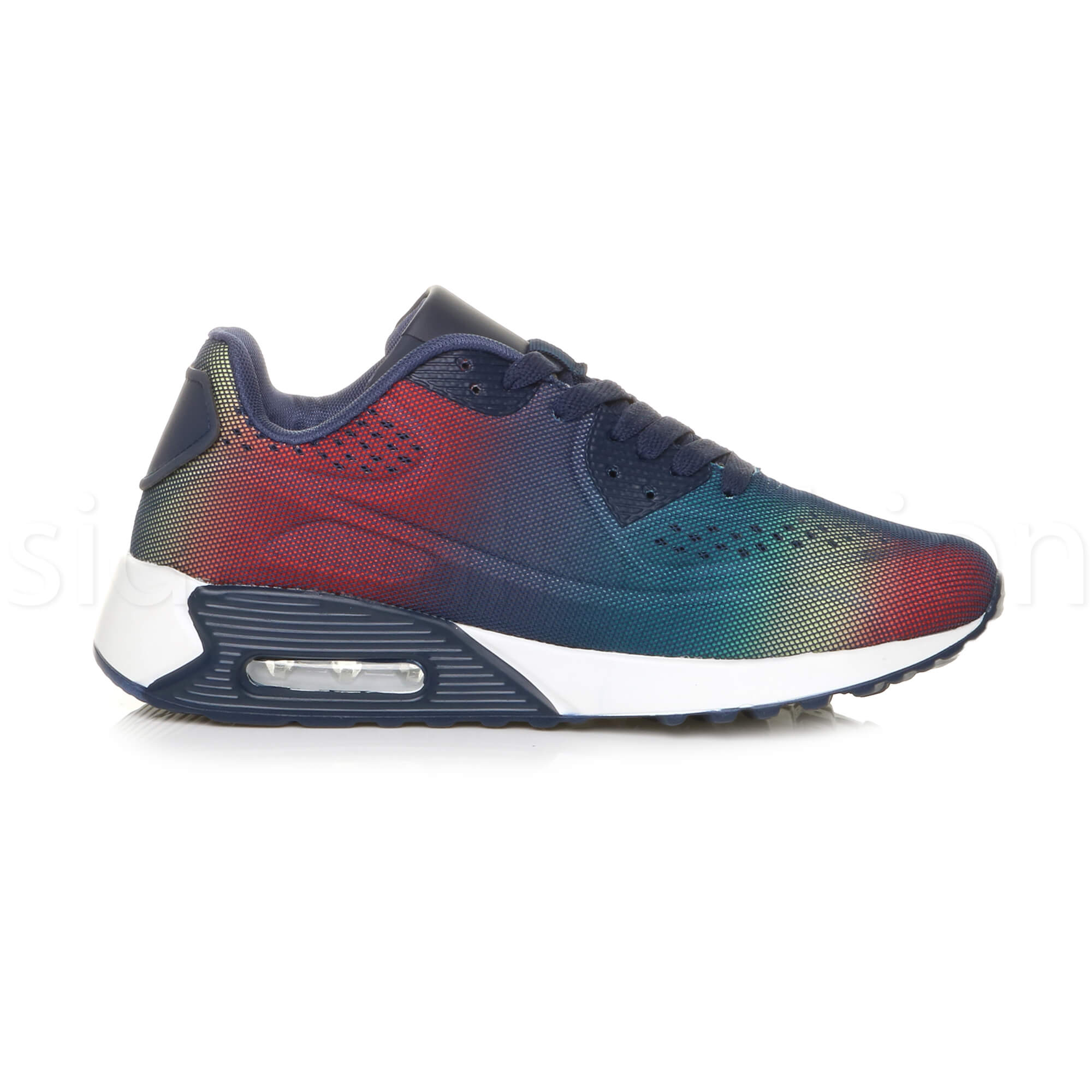 miniatuur 36 - Mens cushioned gym running sports lace up mesh casual trainers sneakers size