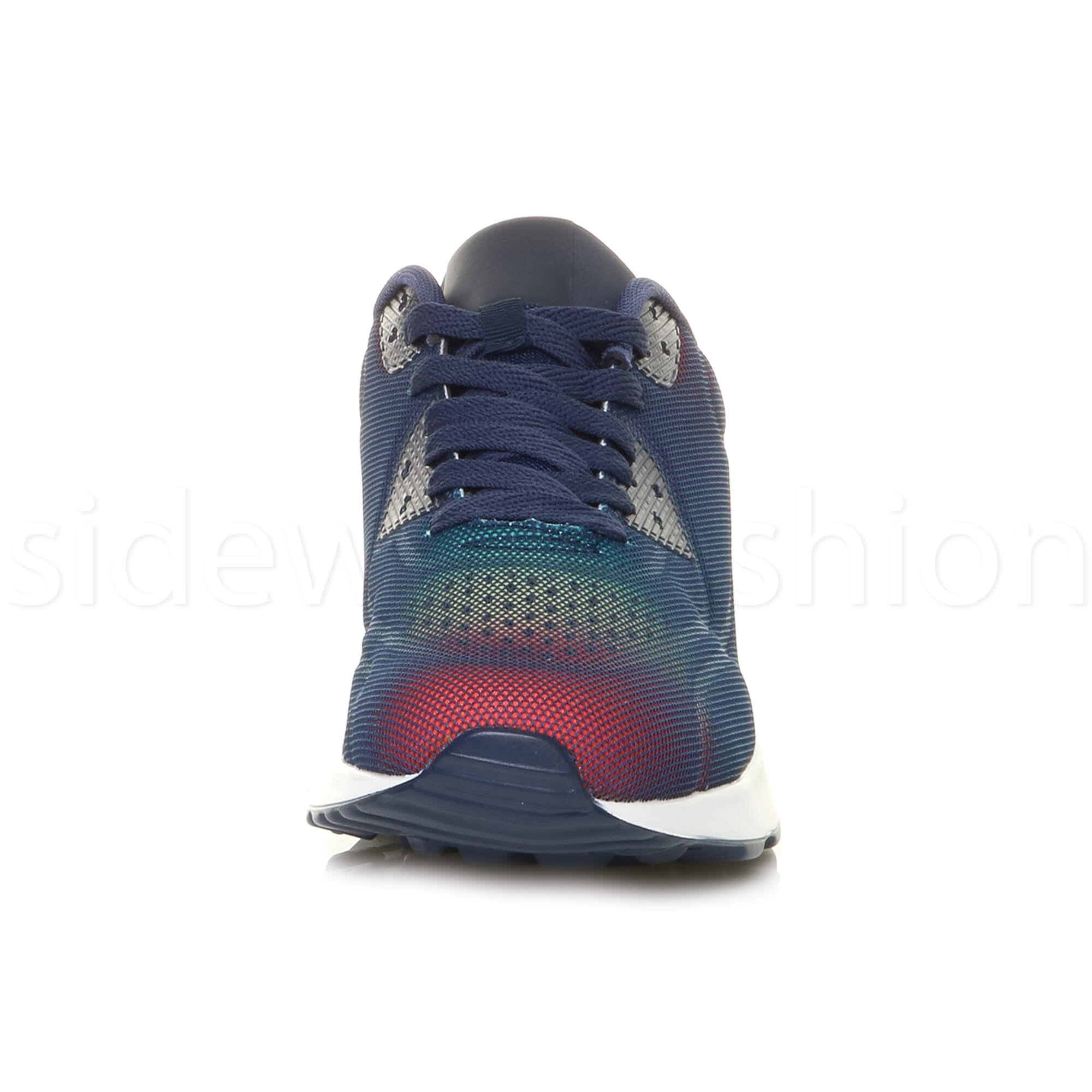 miniatuur 39 - Mens cushioned gym running sports lace up mesh casual trainers sneakers size