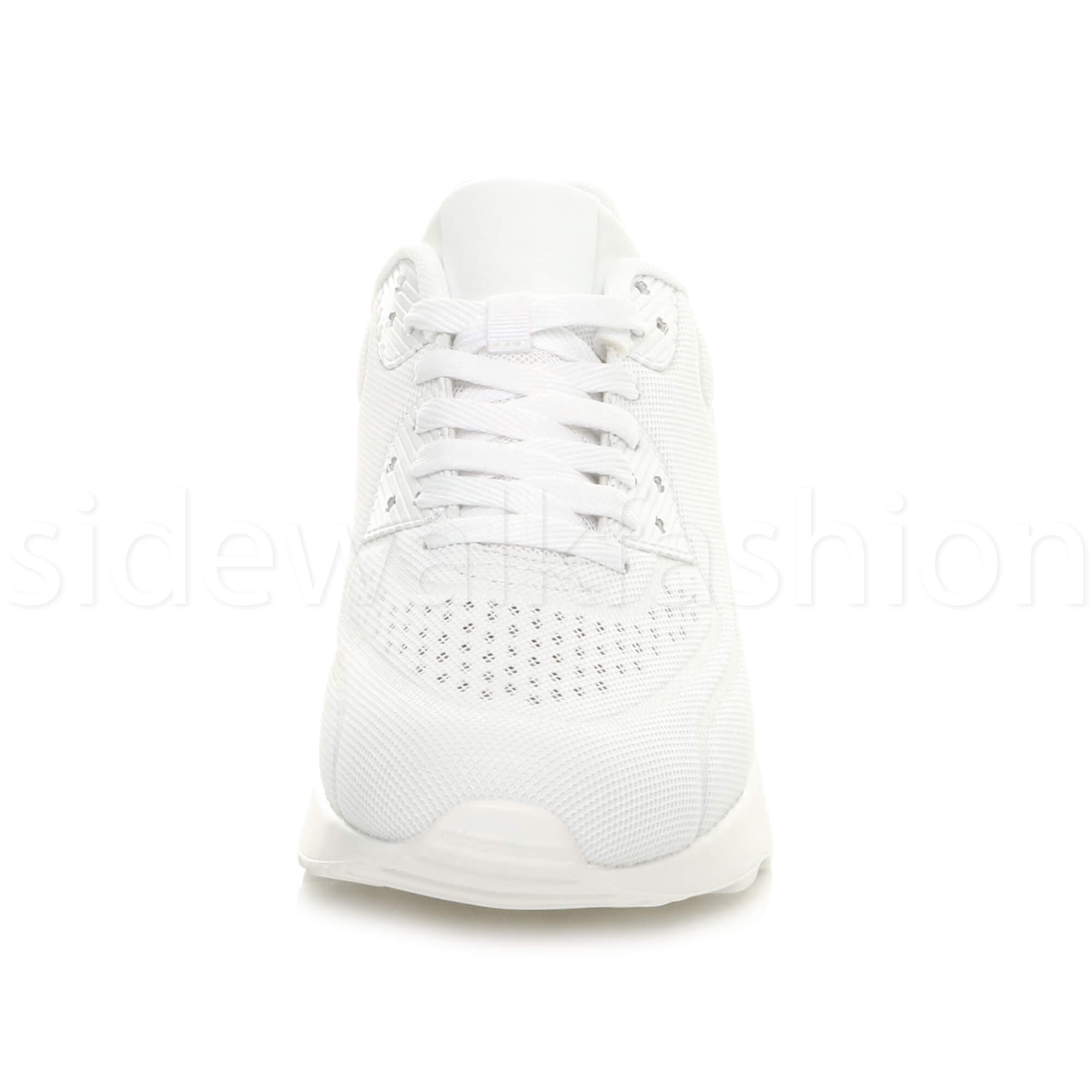 miniatuur 55 - Mens cushioned gym running sports lace up mesh casual trainers sneakers size