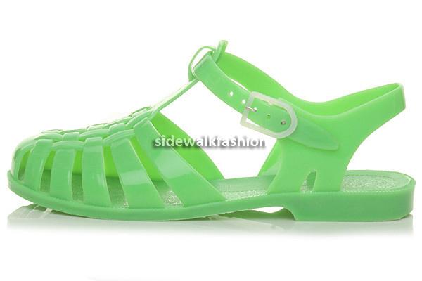 409838698835 Womens ladies girls flat summer beach retro jelly sandals flip flops ...